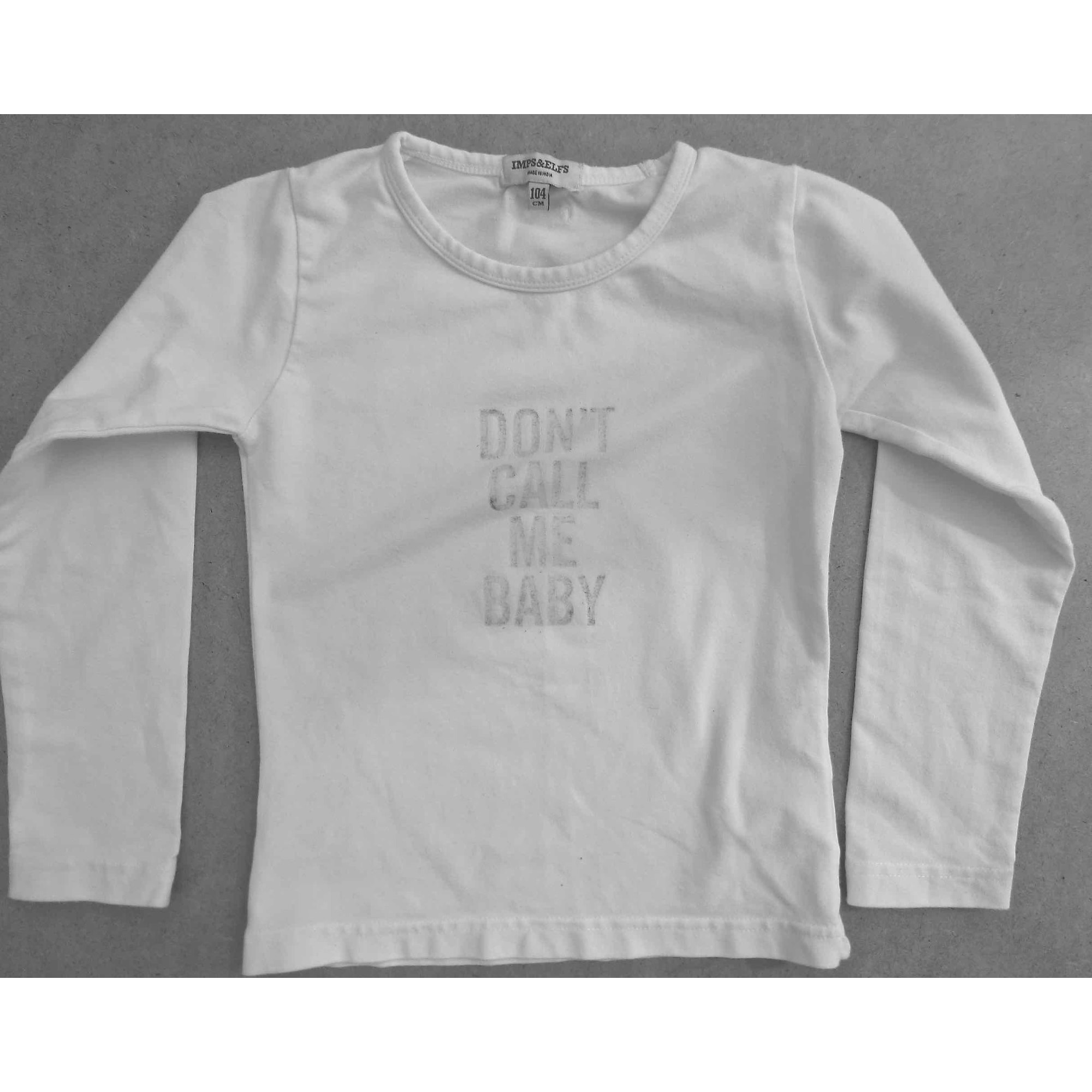 Tee-shirt IMPS & ELFS Blanc, blanc cassé, écru