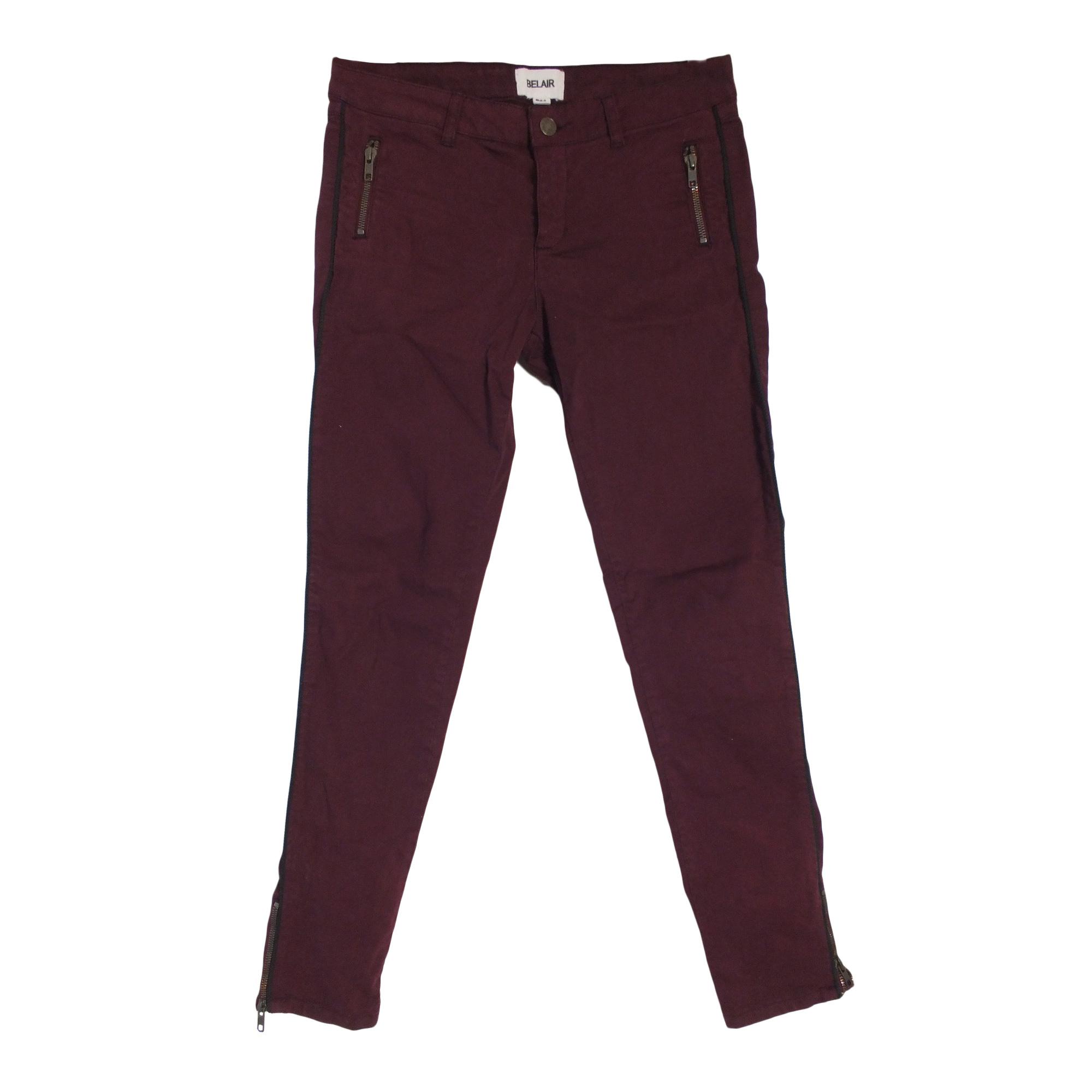 Jeans slim BEL AIR Rouge, bordeaux