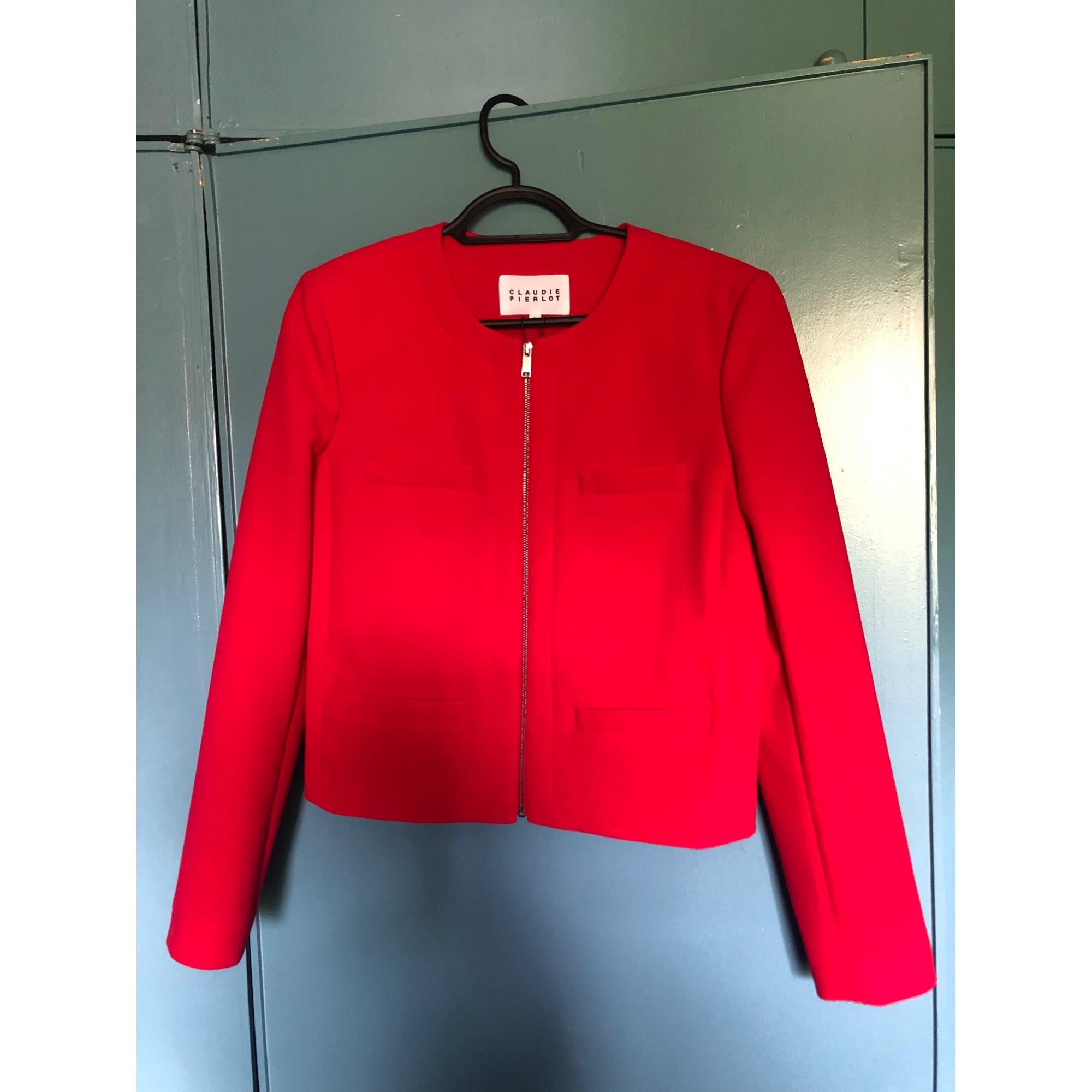 Tailleur pantalon CLAUDIE PIERLOT Rouge, bordeaux