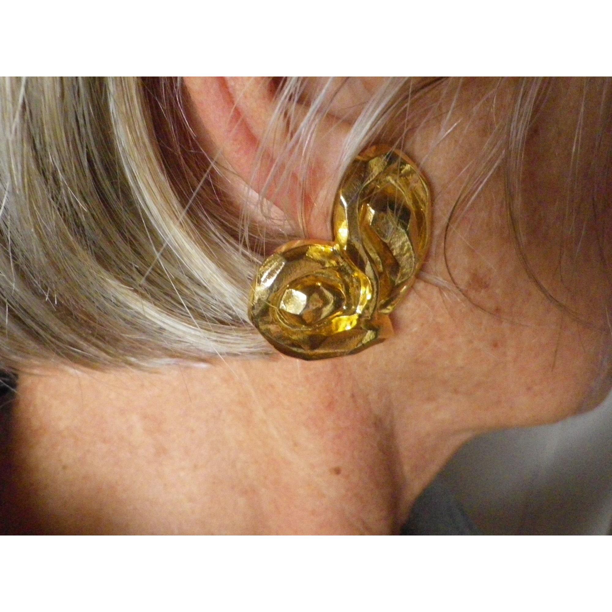 Boucles d'oreille UNGARO métal doré