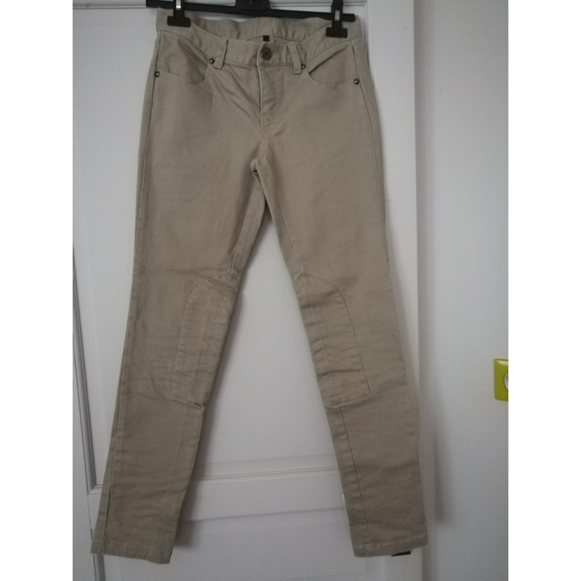 Pantalon slim, cigarette BENETTON Beige, camel