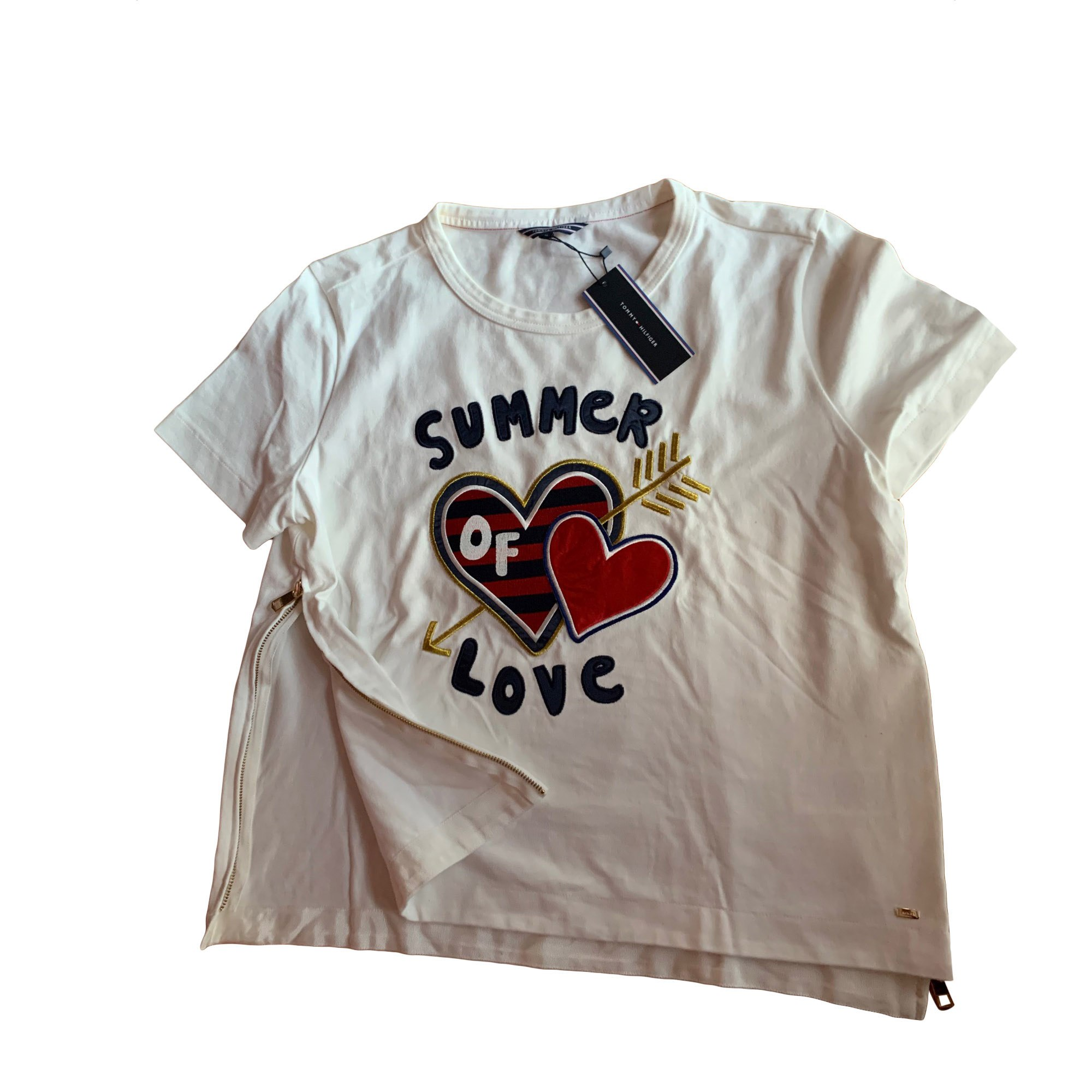 Top, tee-shirt TOMMY HILFIGER Blanc, blanc cassé, écru