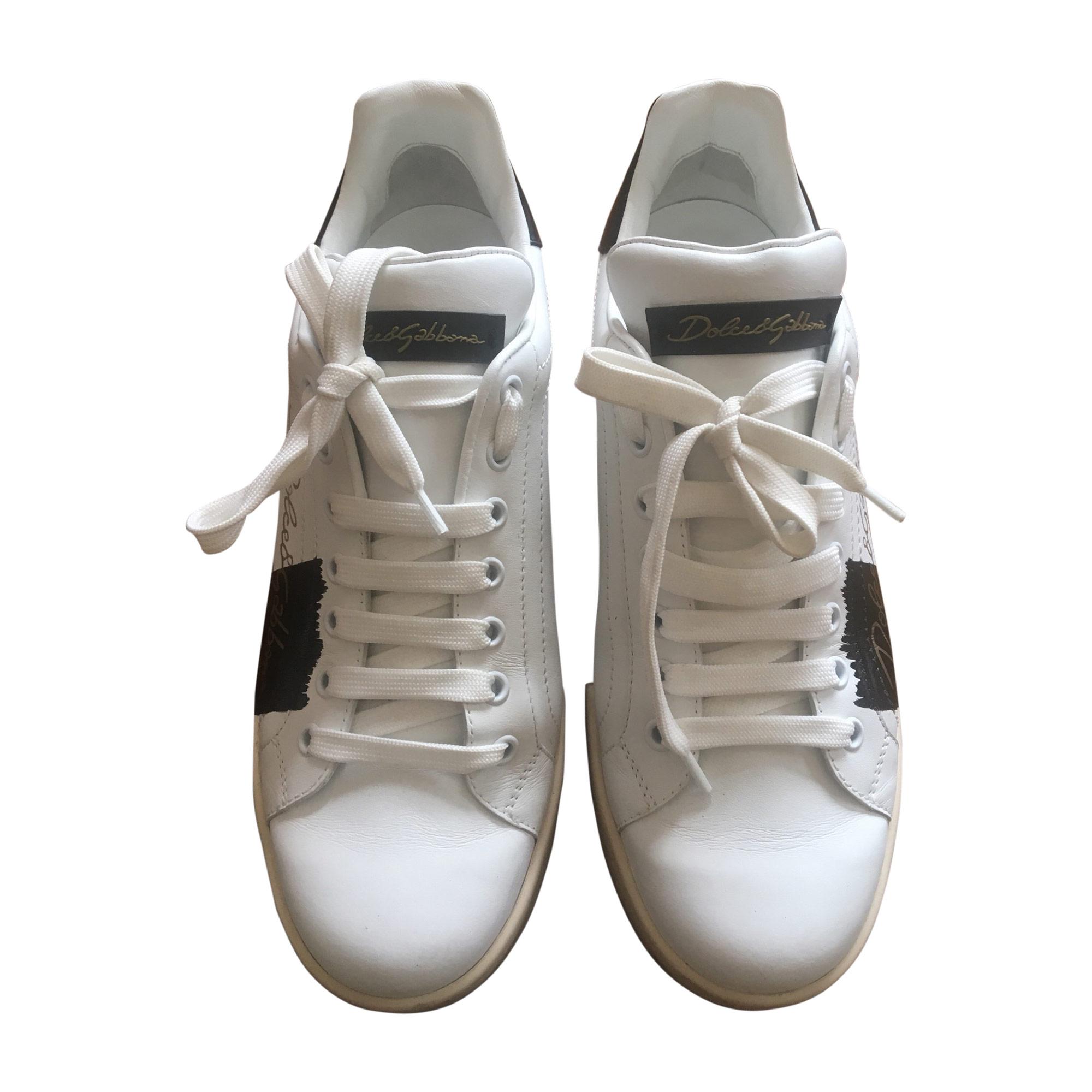 Baskets DOLCE & GABBANA Blanc, blanc cassé, écru