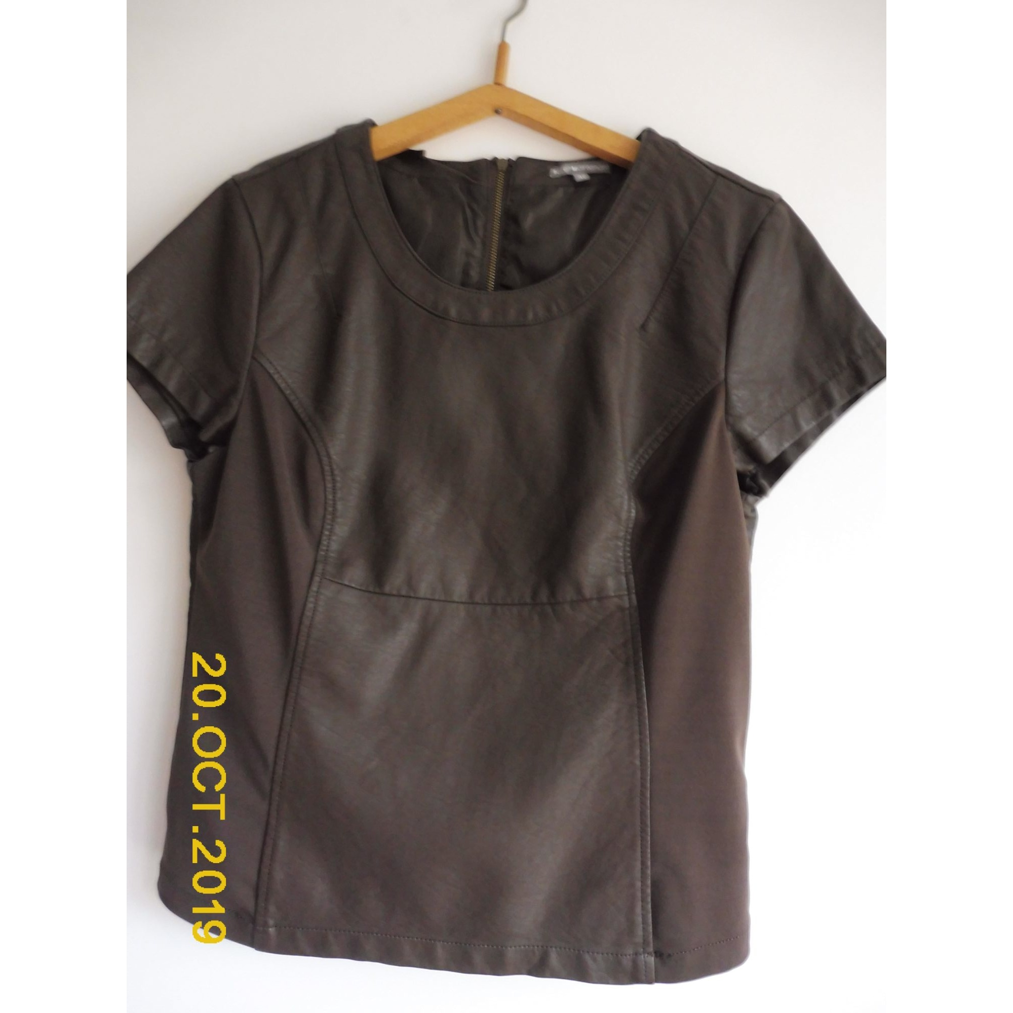 Top, tee-shirt ICI ET MAINTENANT Marron