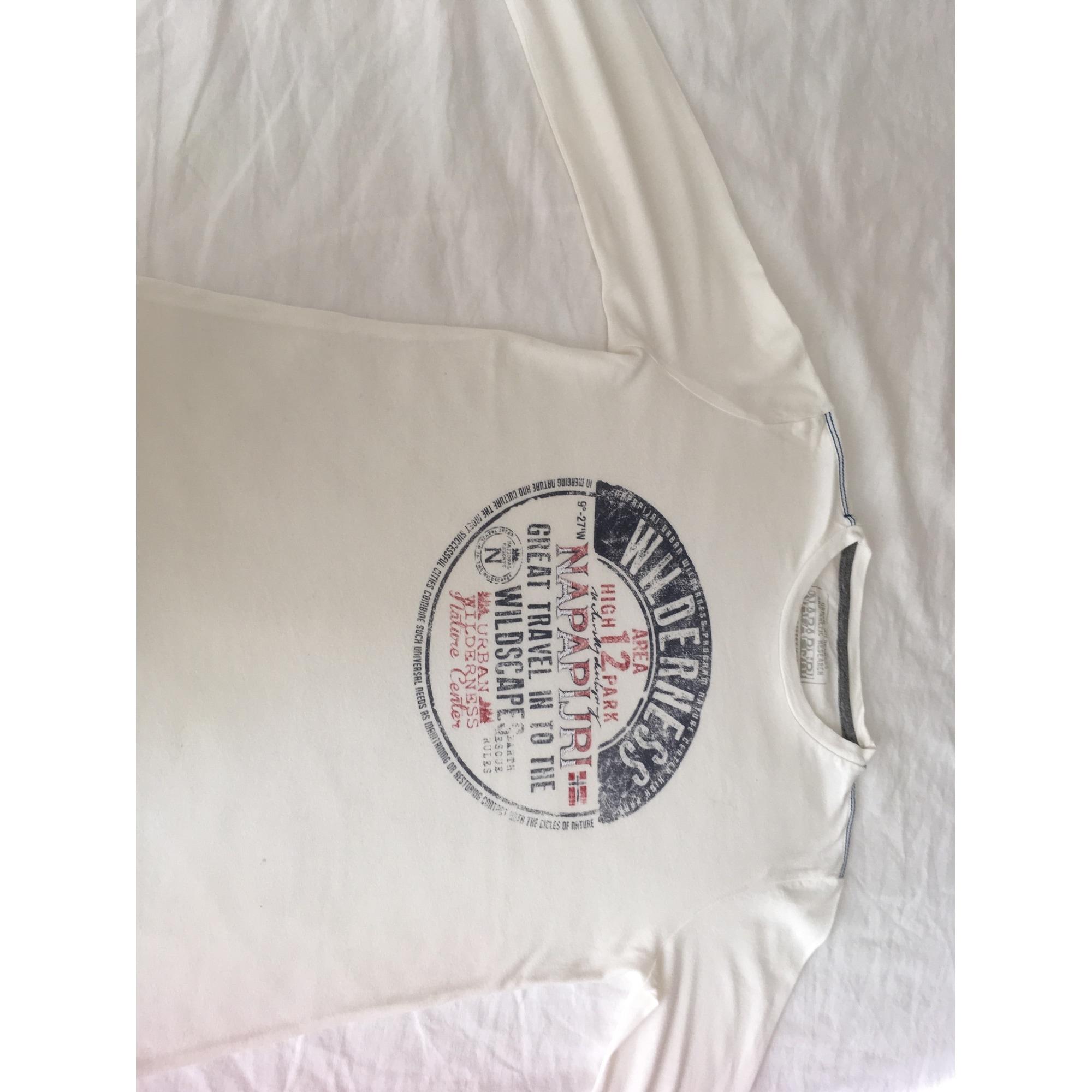 Tee-shirt NAPAPIJRI Blanc, blanc cassé, écru