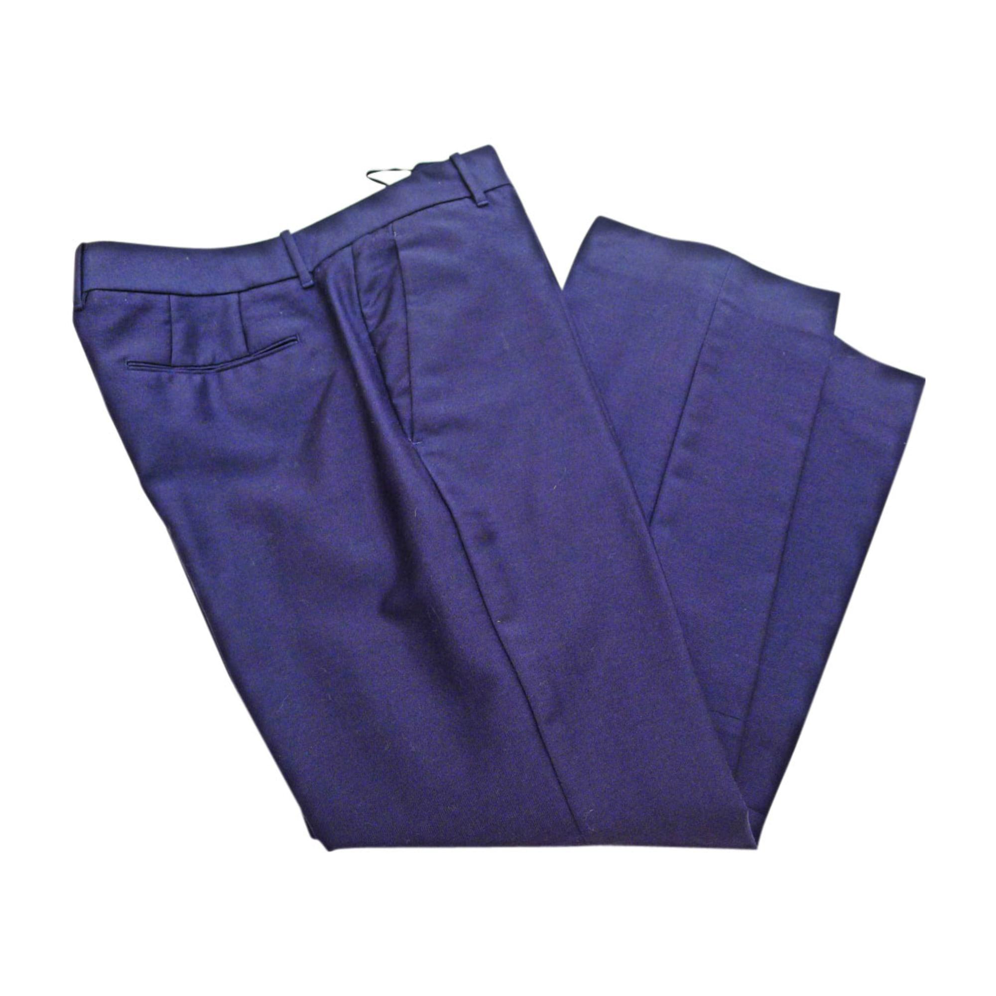 Pantalon droit JIL SANDER Bleu, bleu marine, bleu turquoise