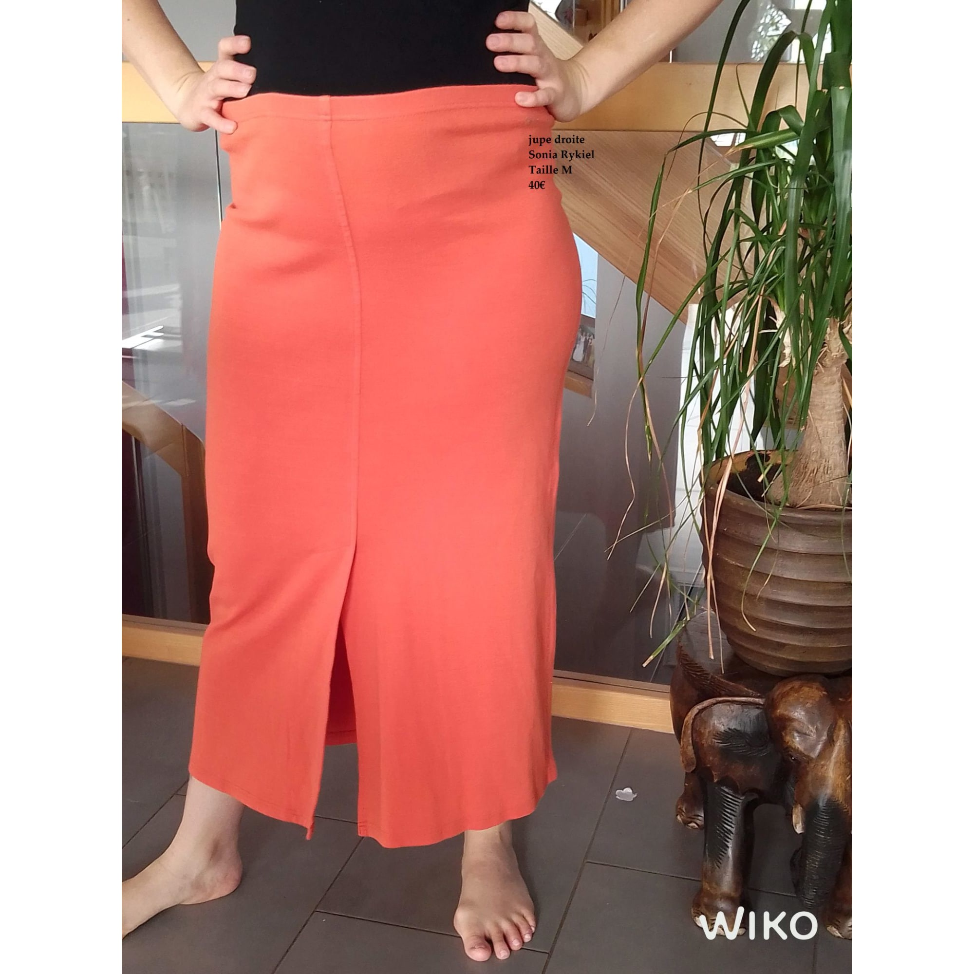 Jupe longue SONIA RYKIEL Orange