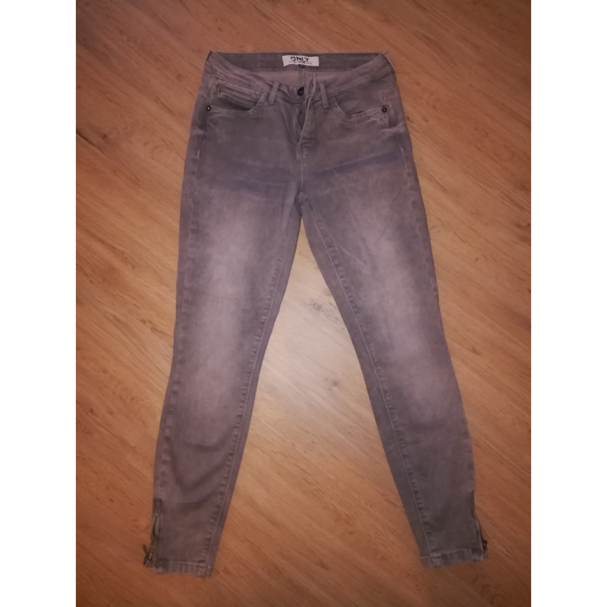 Jeans slim ONLY Gris, anthracite