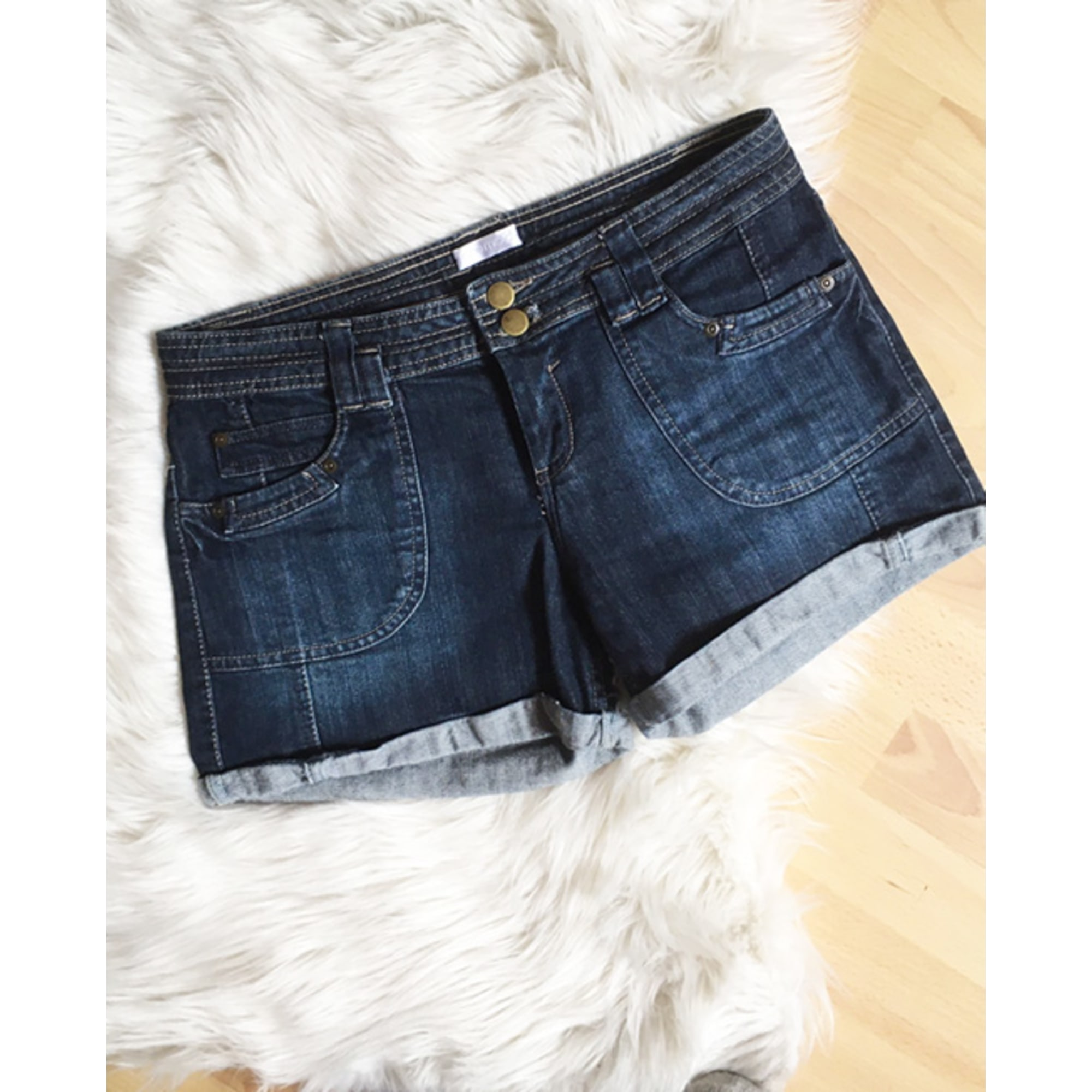 Short en jean PROMOD Bleu, bleu marine, bleu turquoise