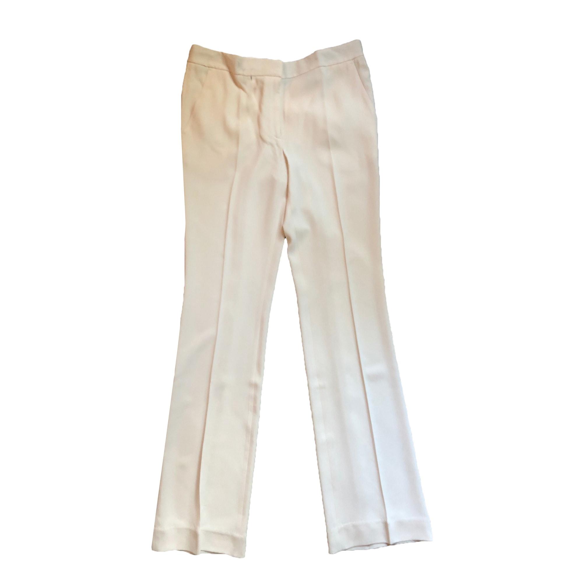 Pantalon droit BY MALENE BIRGER Blanc, blanc cassé, écru