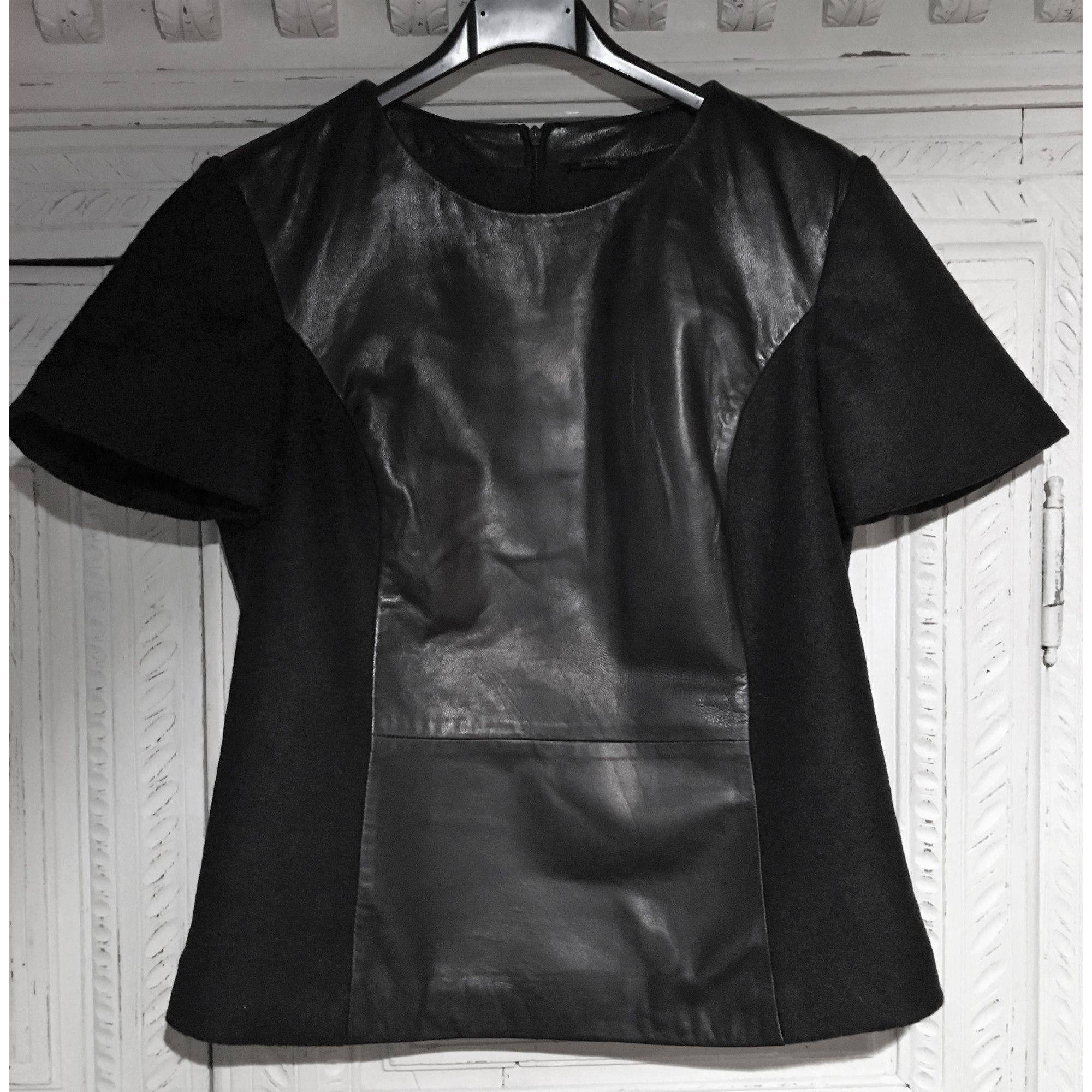 Top, tee-shirt MASSIMO DUTTI Noir