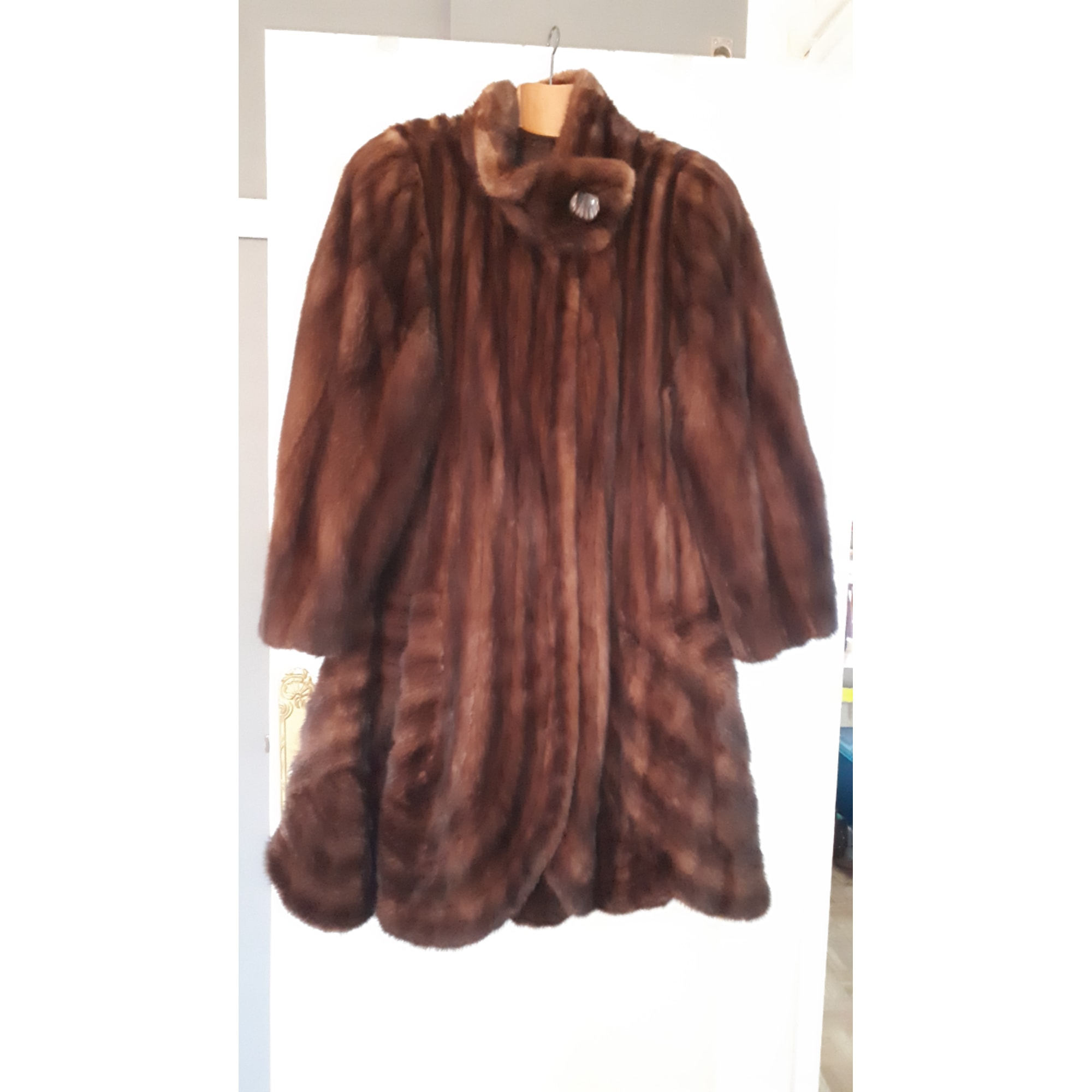 Manteau en fourrure VINTAGE Marron