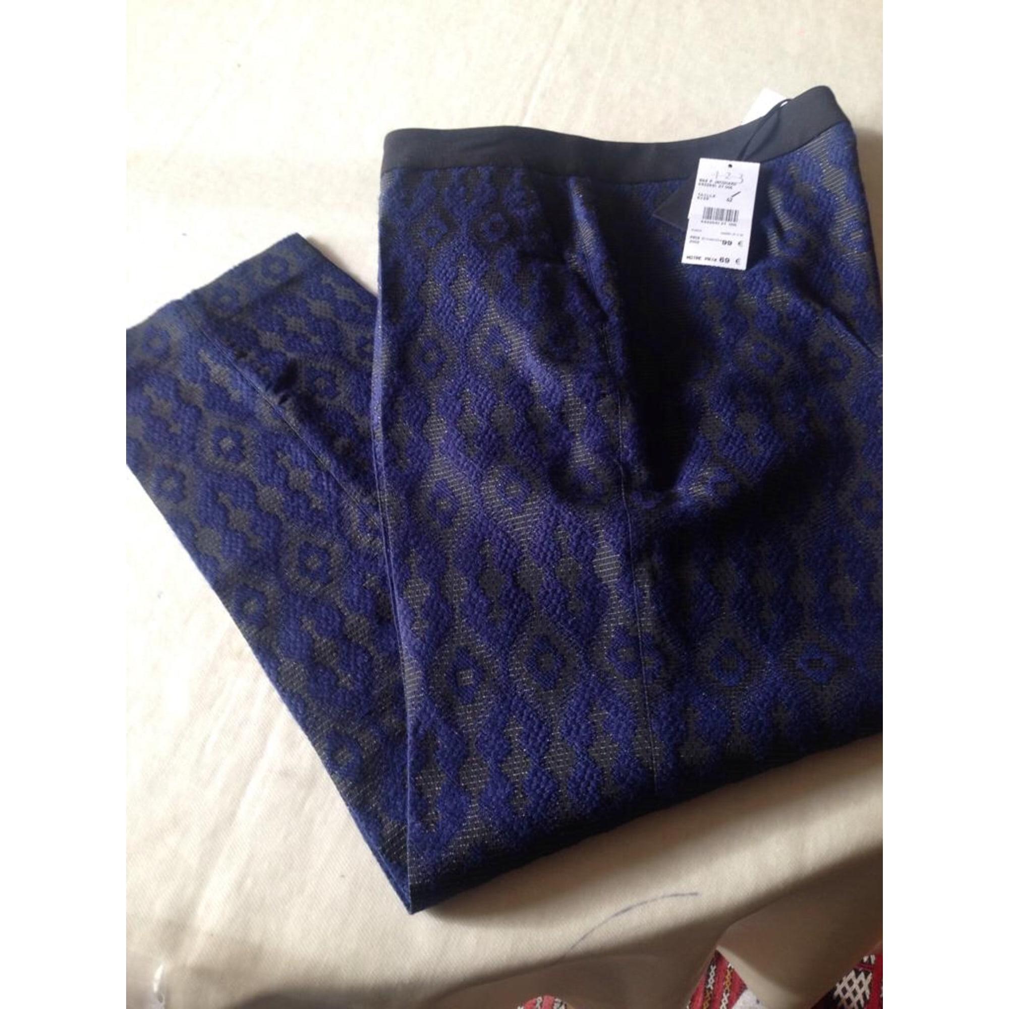 Pantalon slim, cigarette 1.2.3 Bleu, bleu marine, bleu turquoise