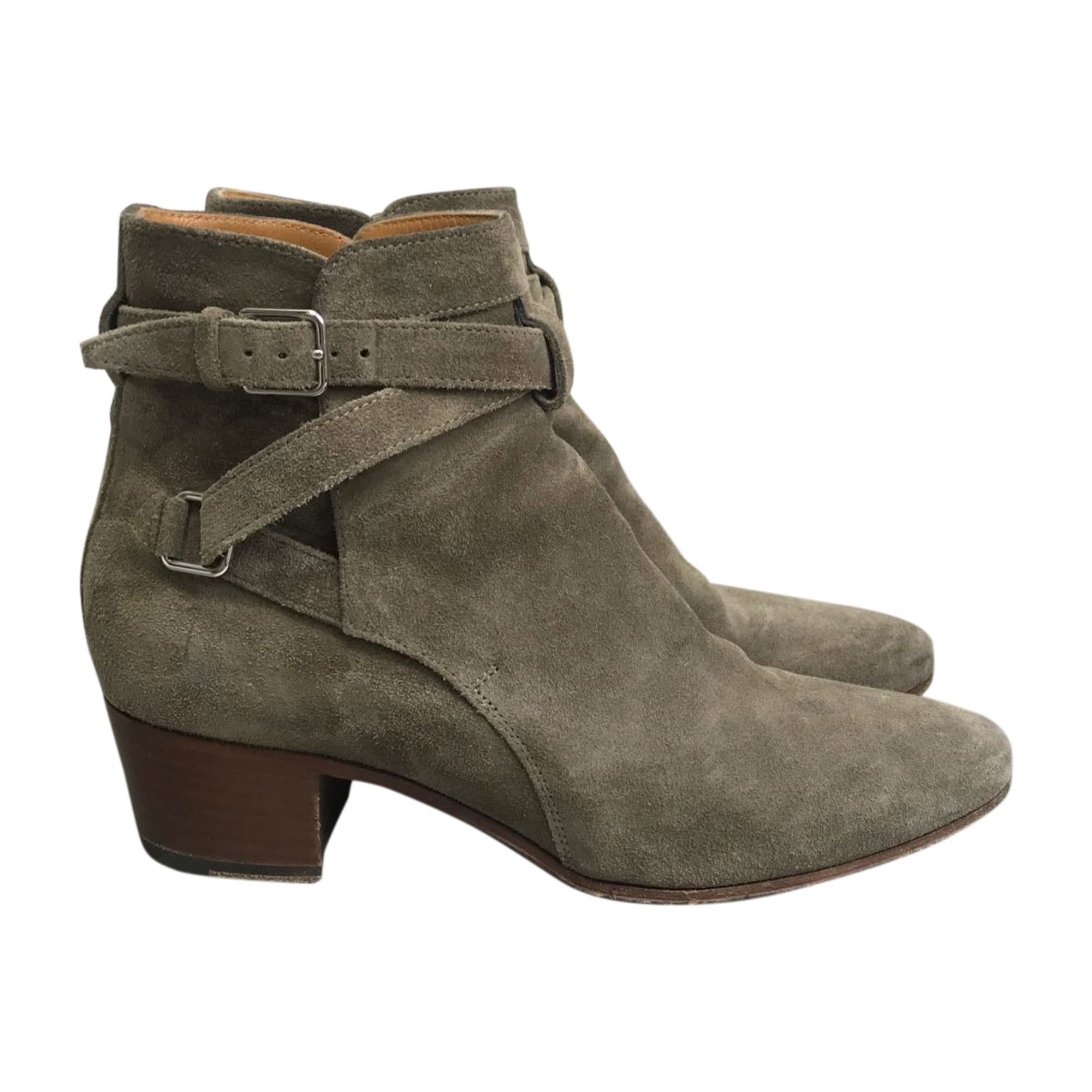 Bottines & low boots à talons SAINT LAURENT Beige, camel