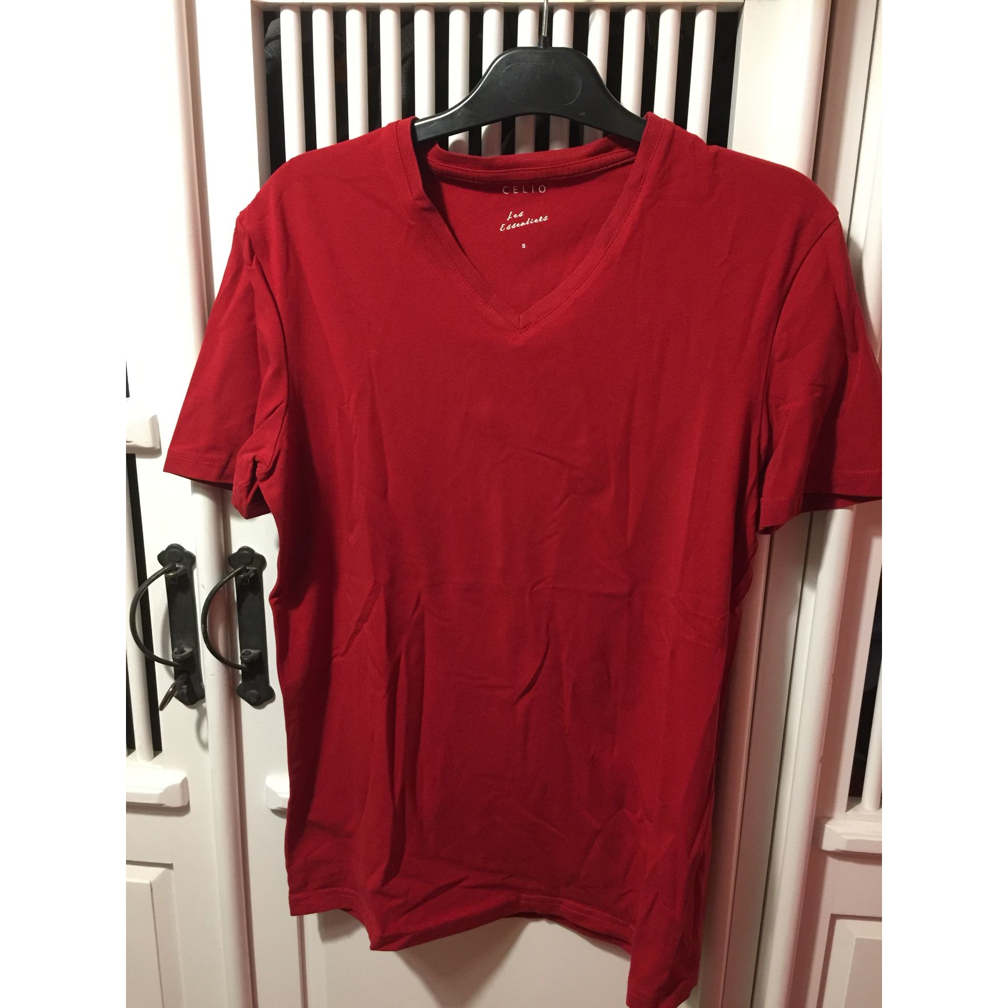 Tee-shirt CELIO Rouge, bordeaux