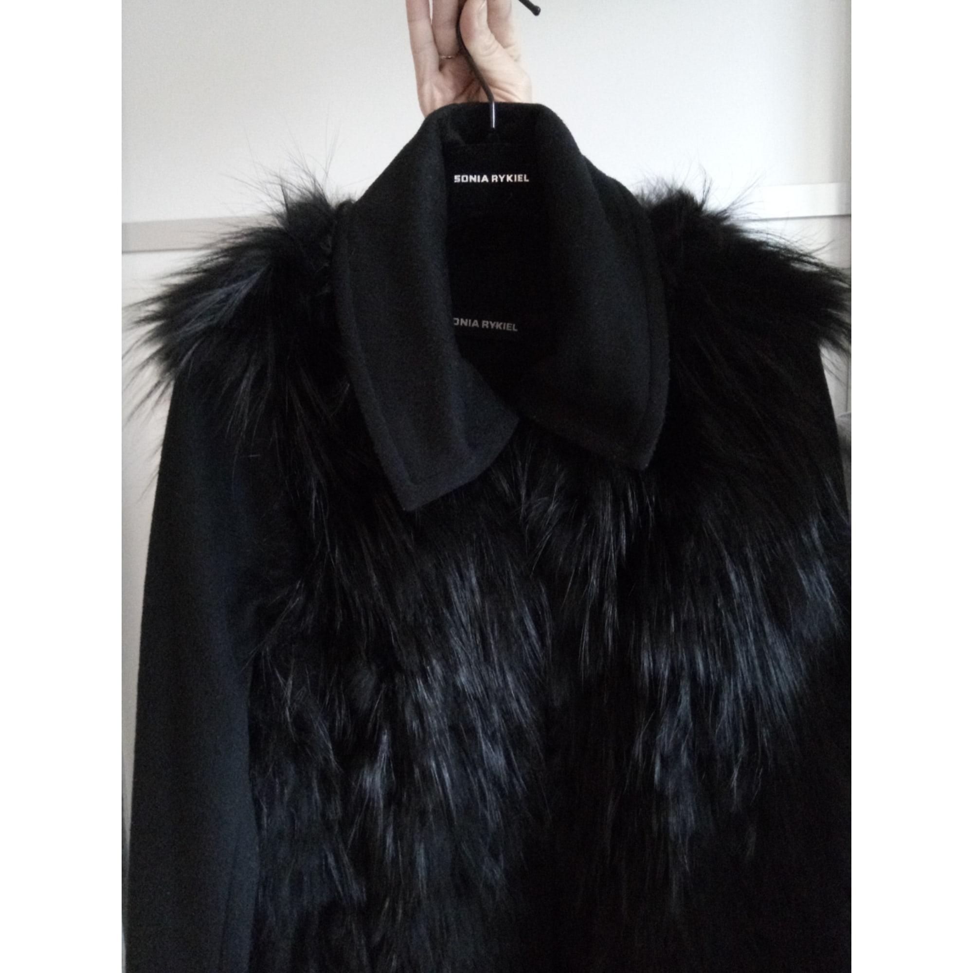 Manteau en fourrure SONIA RYKIEL Noir
