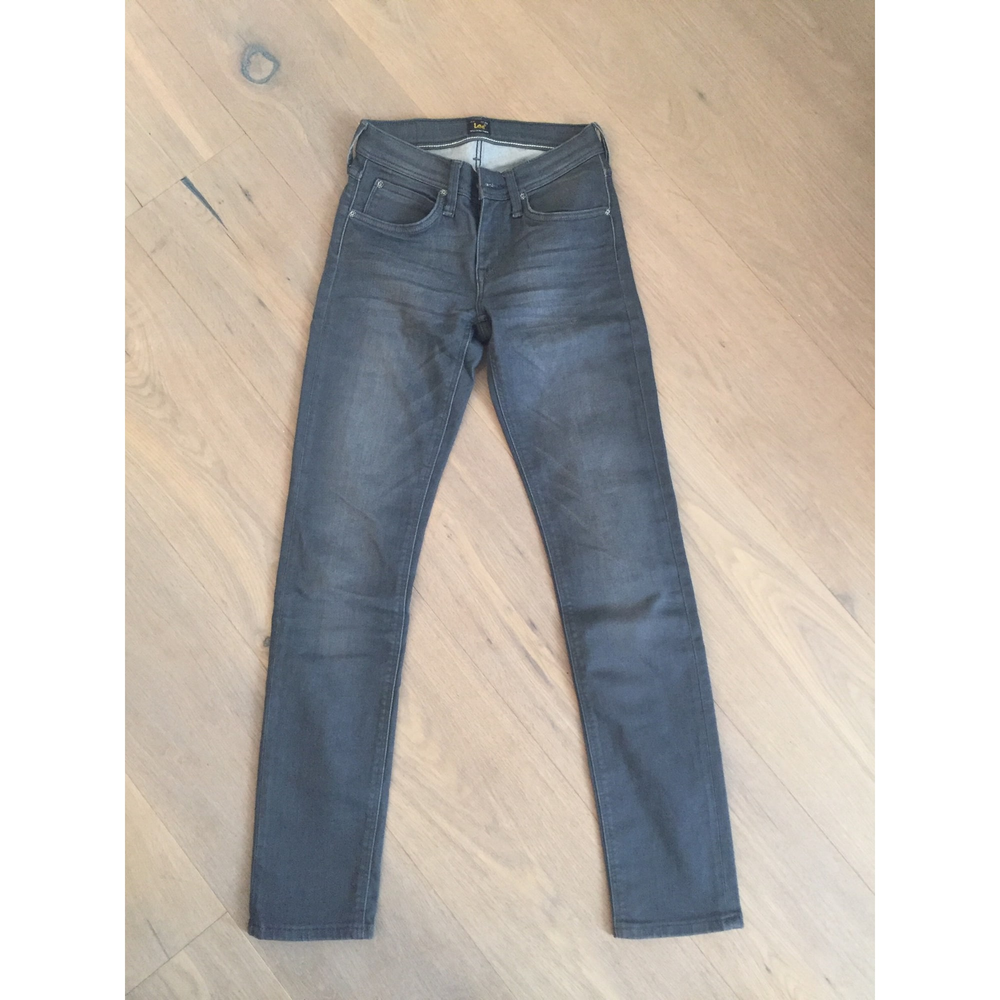 Jeans slim LEE Gris, anthracite