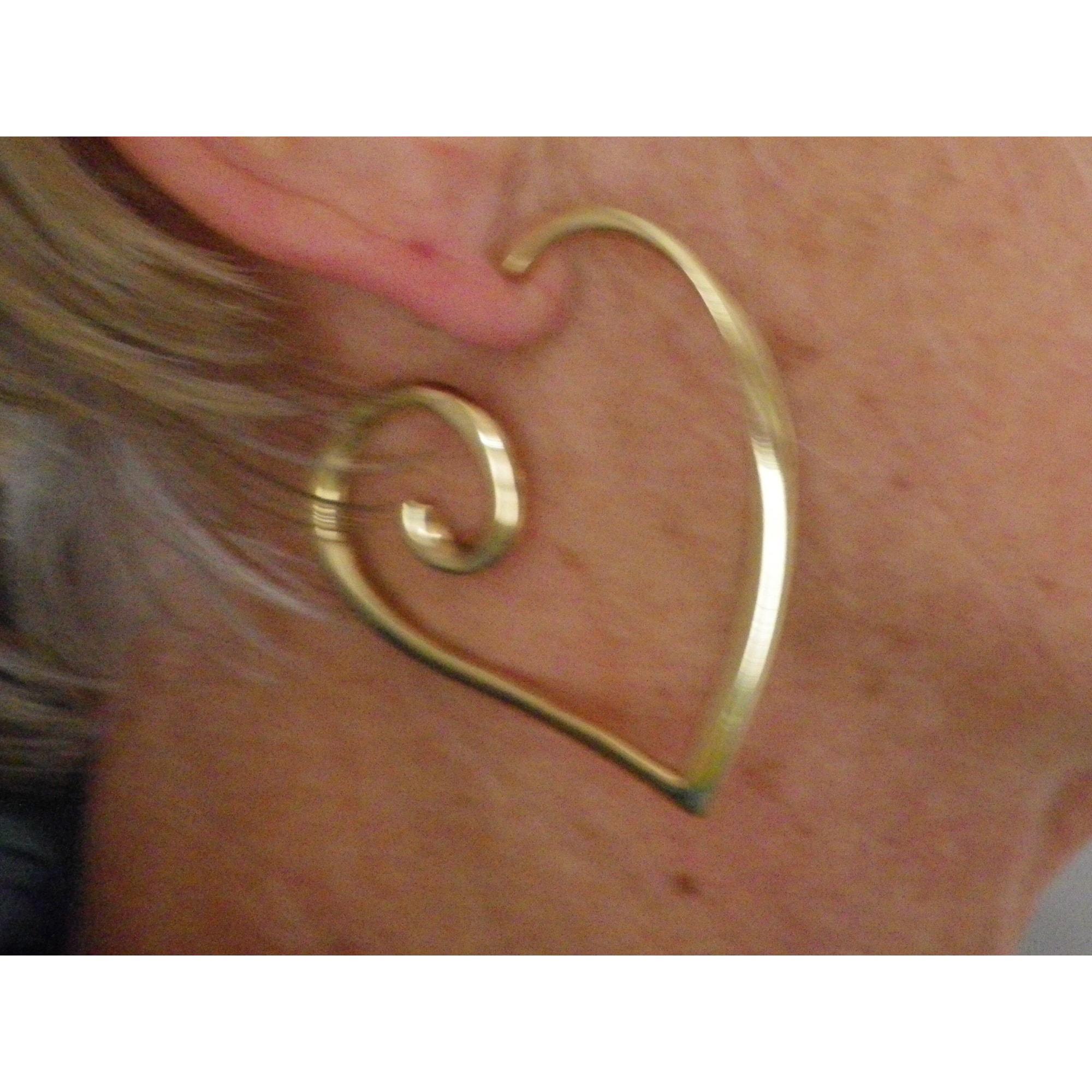Boucles d'oreille LOLITA LEMPICKA acier doré