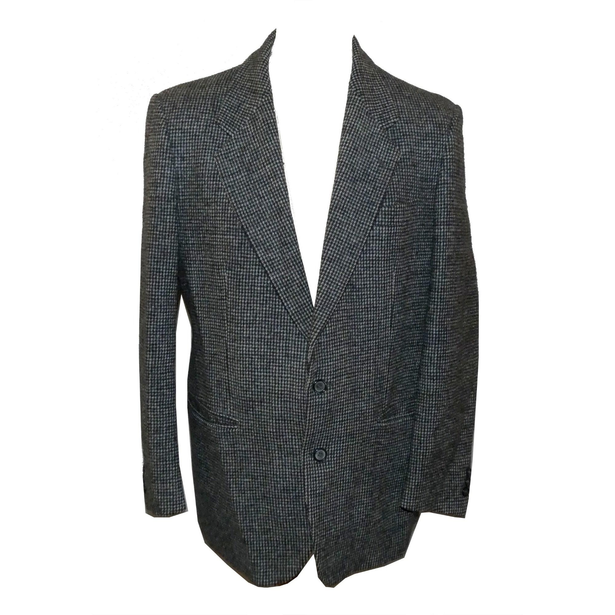 Veste de costume HARRIS TWEED noir et blanc