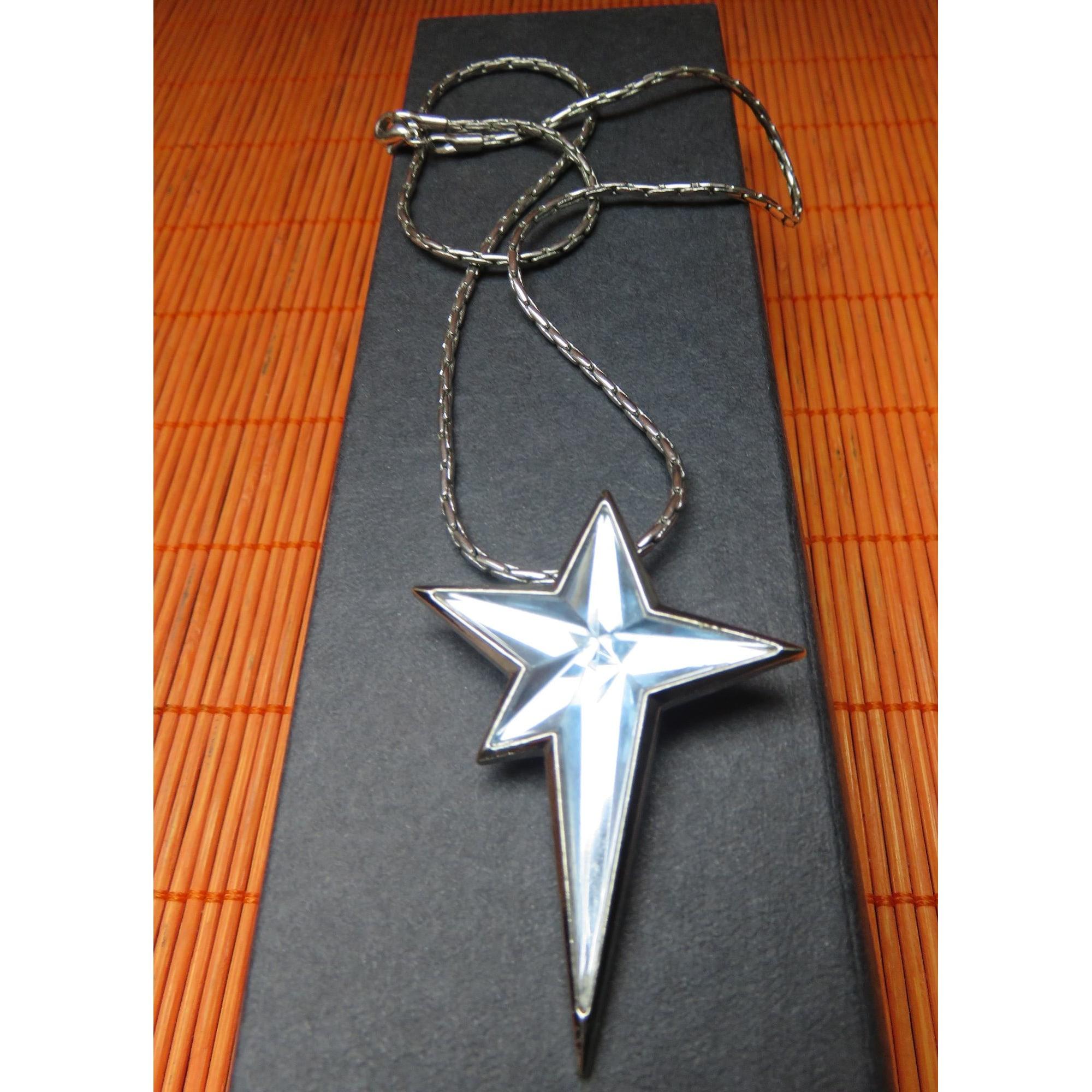 Pendentif, collier pendentif THIERRY MUGLER Bleu, bleu marine, bleu turquoise