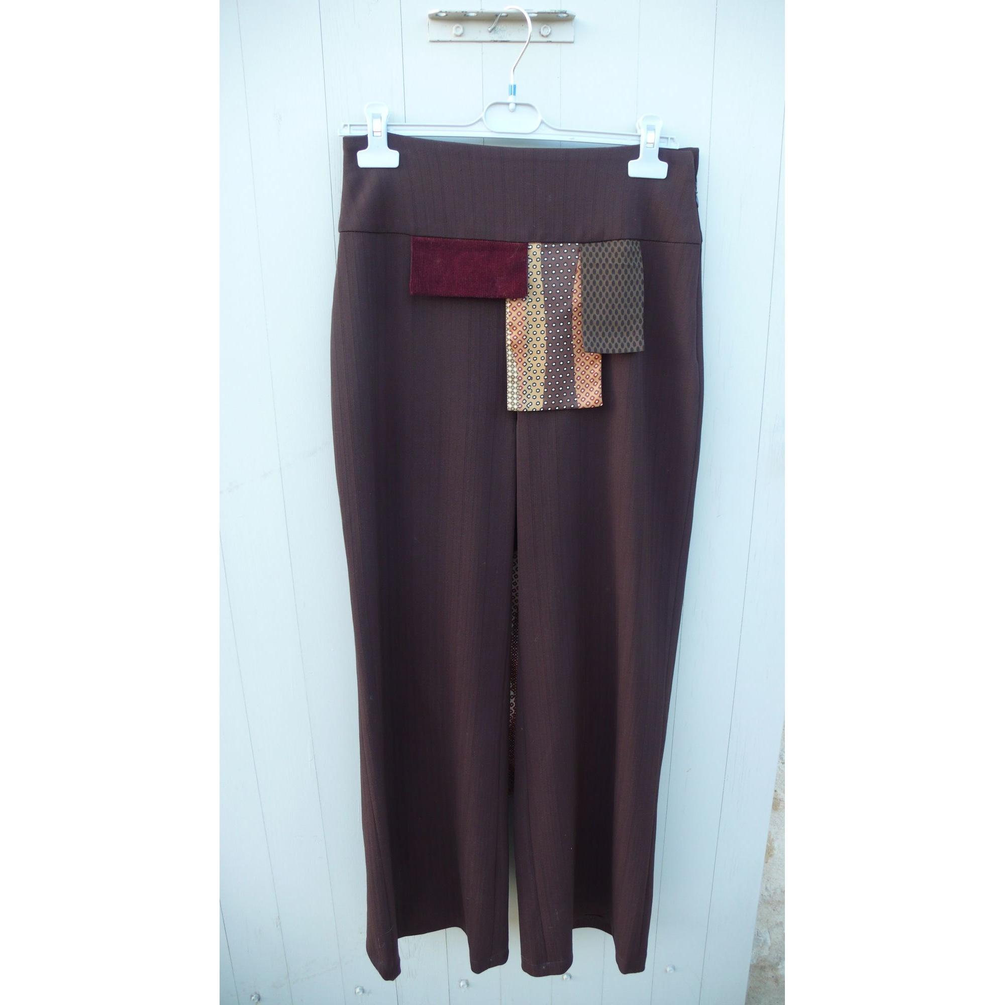 Tailleur pantalon KEZALY CREATRICE NANTAISE Marron