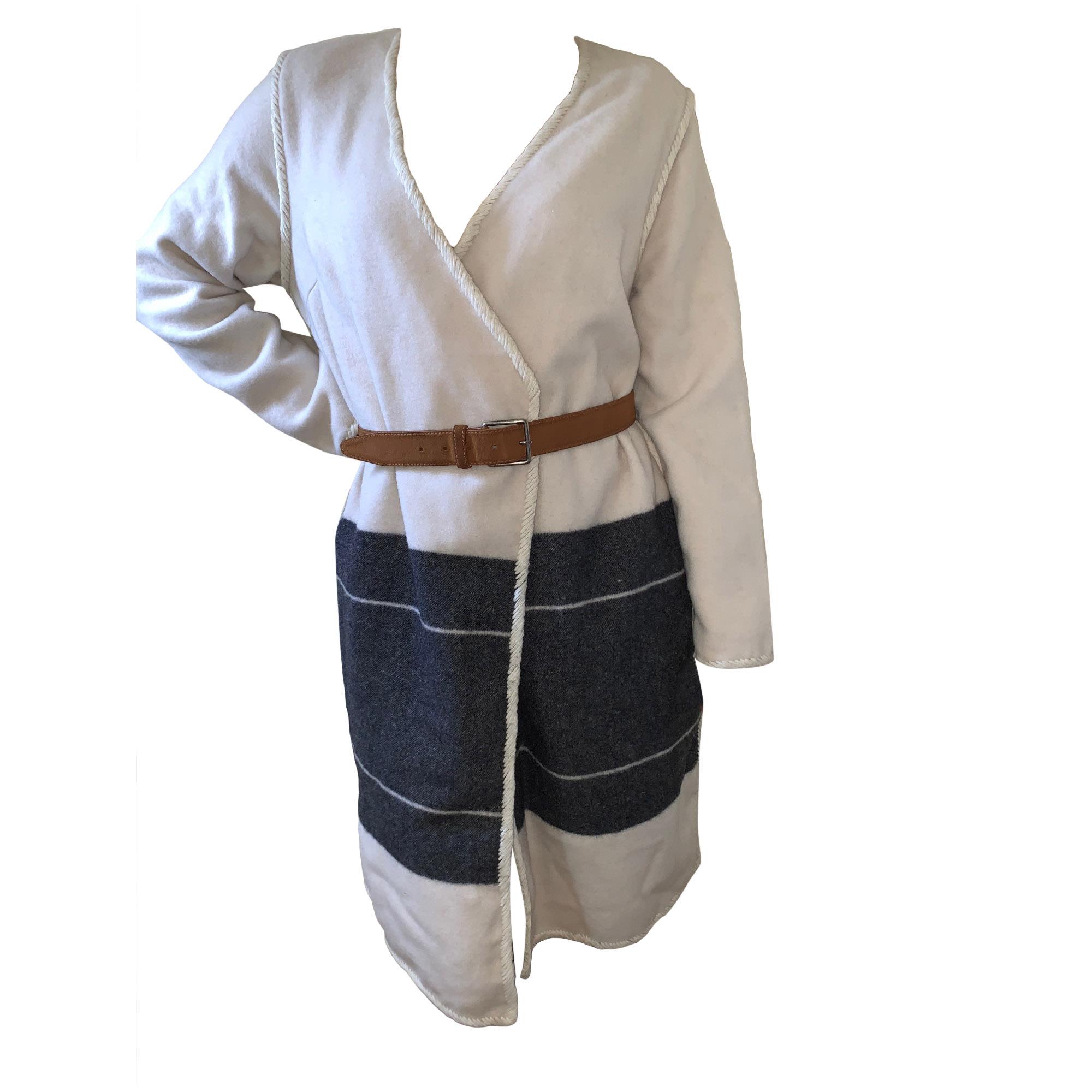Manteau BY MALENE BIRGER Blanc, blanc cassé, écru