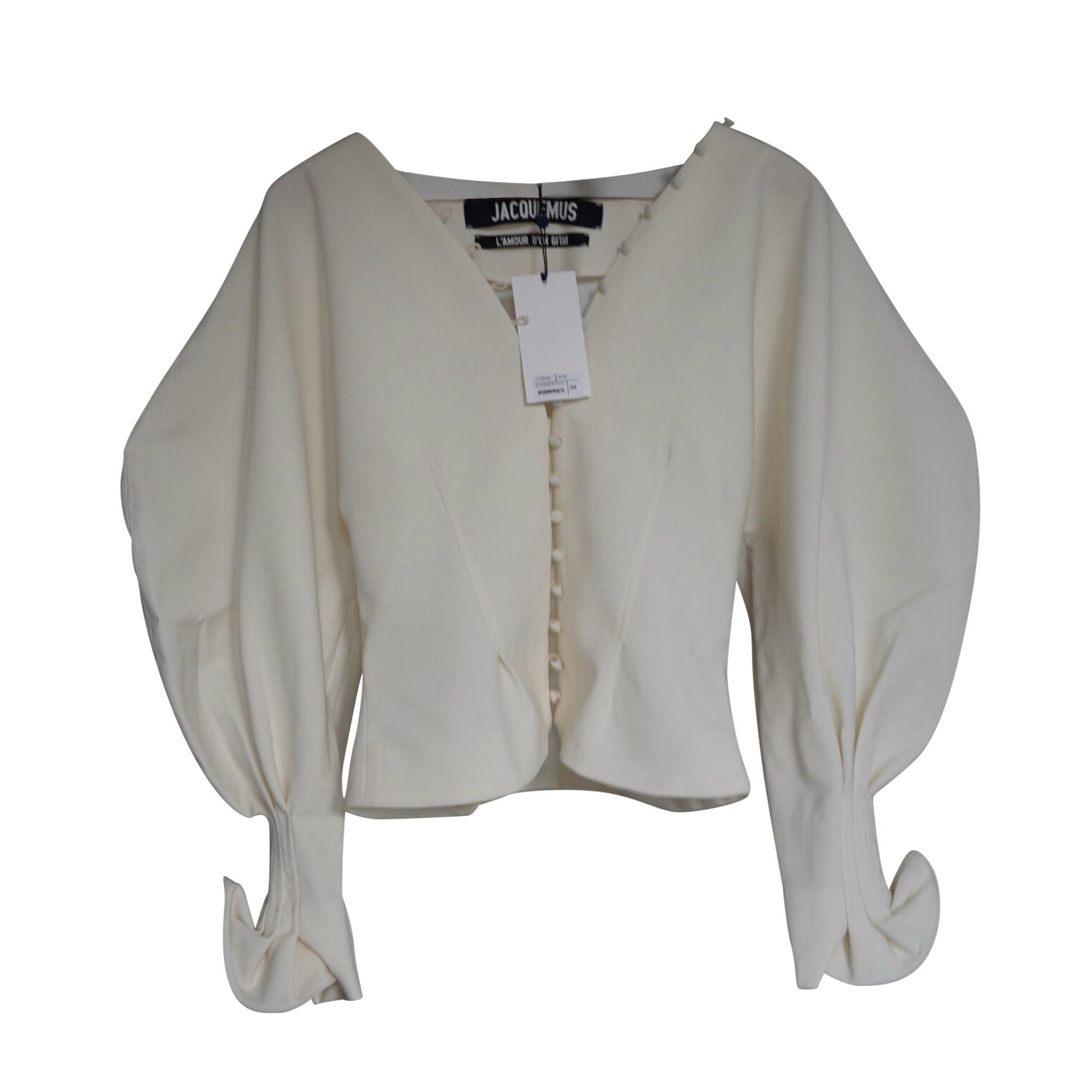 Blusa JACQUEMUS Bianco, bianco sporco, ecru