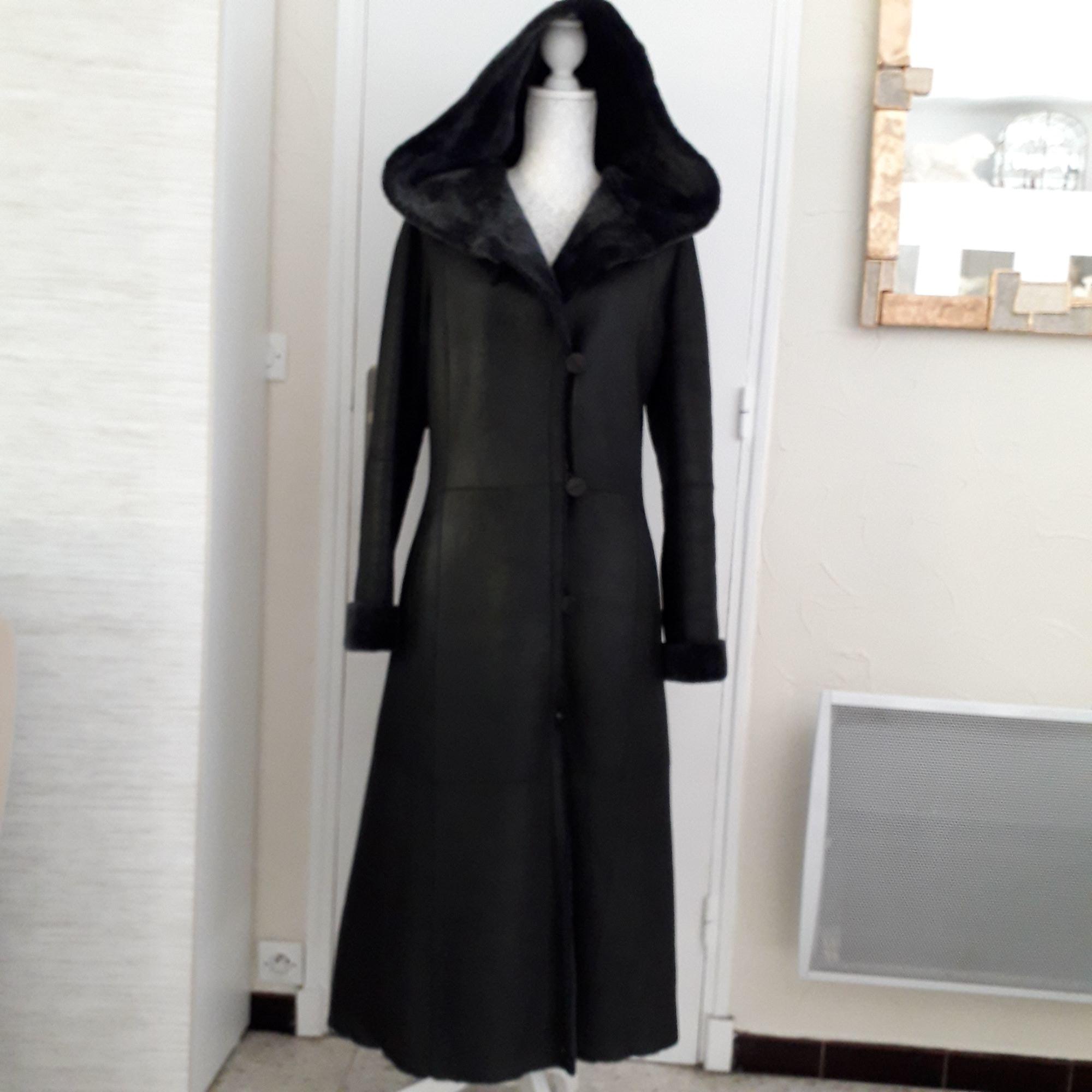 Manteau en fourrure GIOVANNI Noir