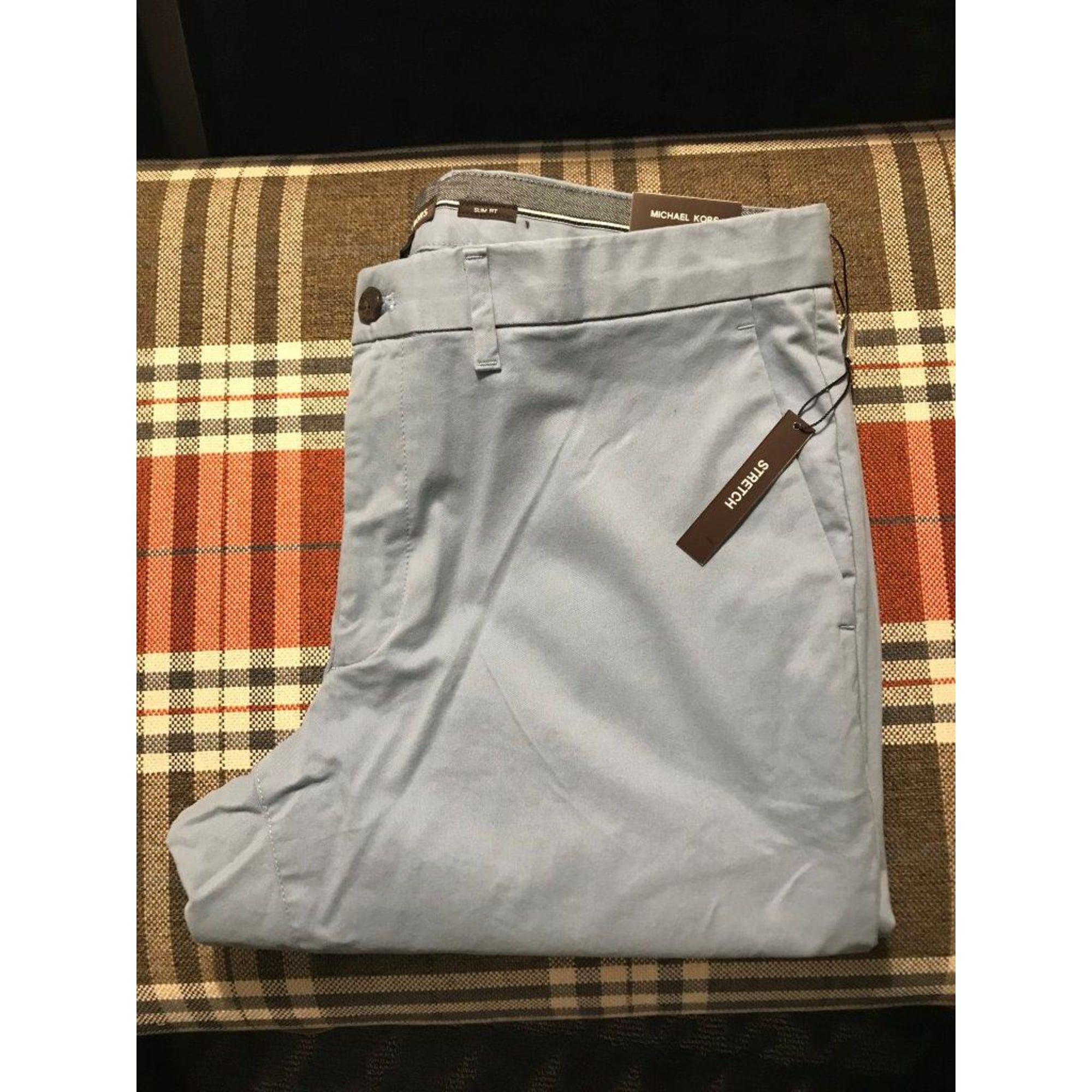Pantalon slim MICHAEL KORS Bleu, bleu marine, bleu turquoise