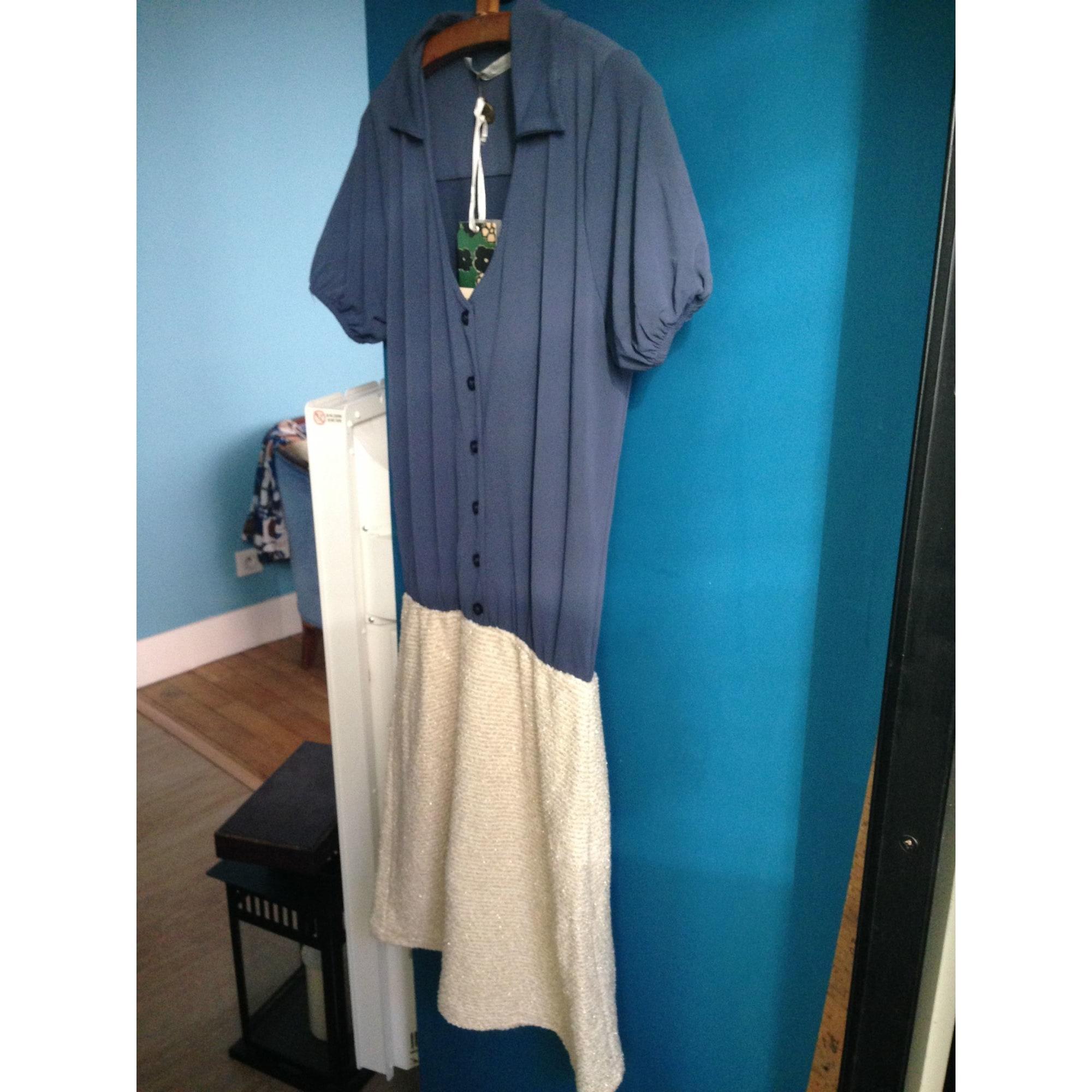 Robe courte LA FÉE MARABOUTÉE Bleu, bleu marine, bleu turquoise