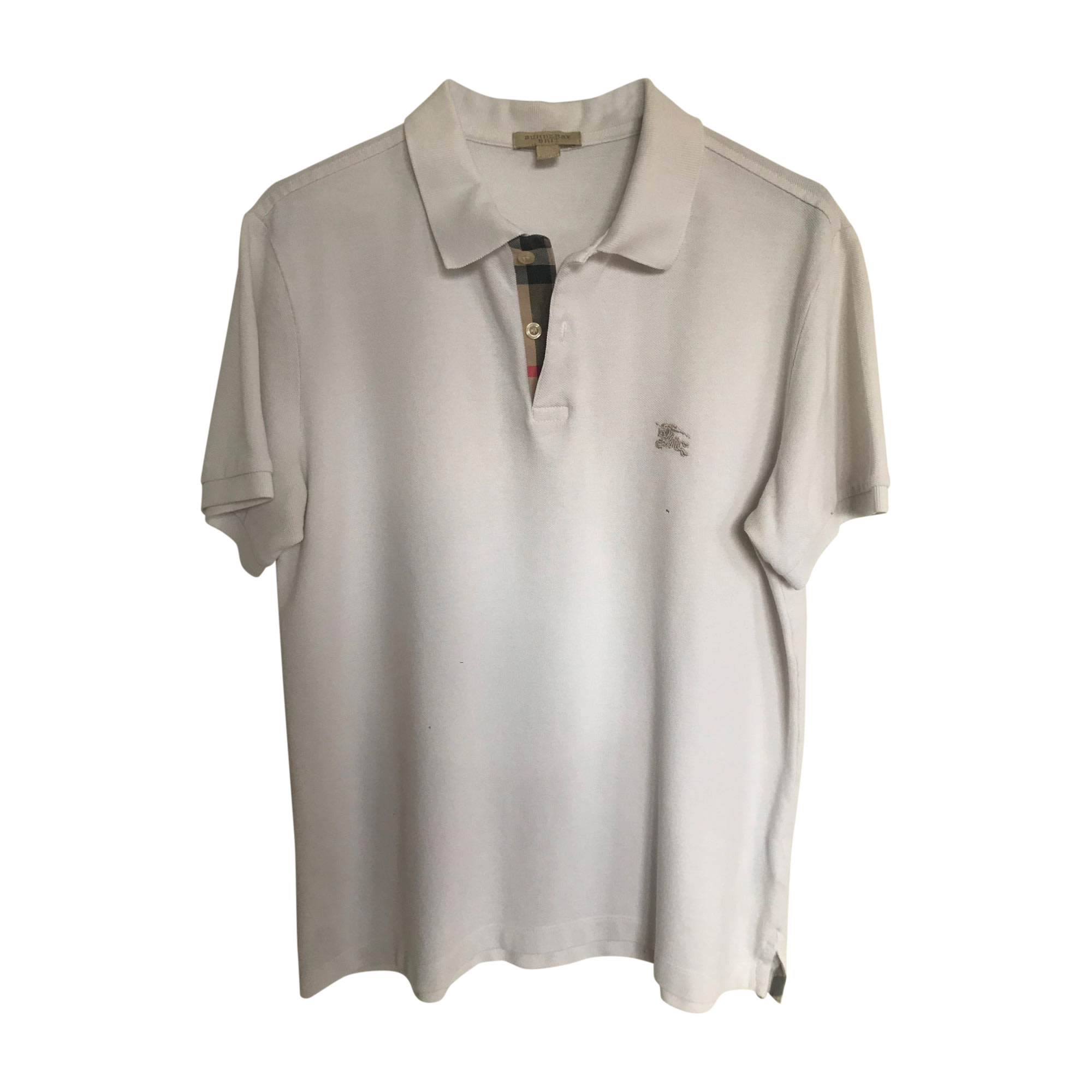 Polo BURBERRY Blanc, blanc cassé, écru