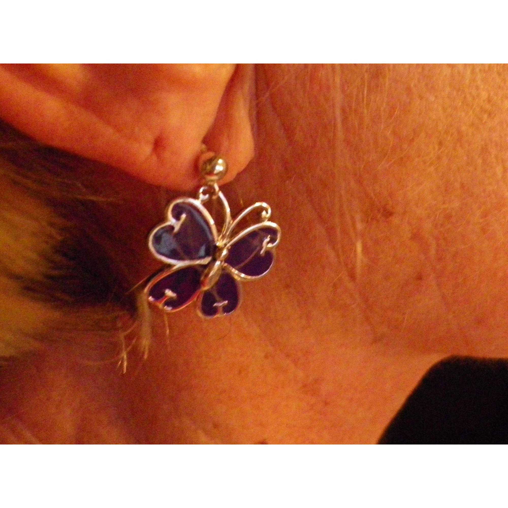 Boucles d'oreille LOLITA LEMPICKA acier violet