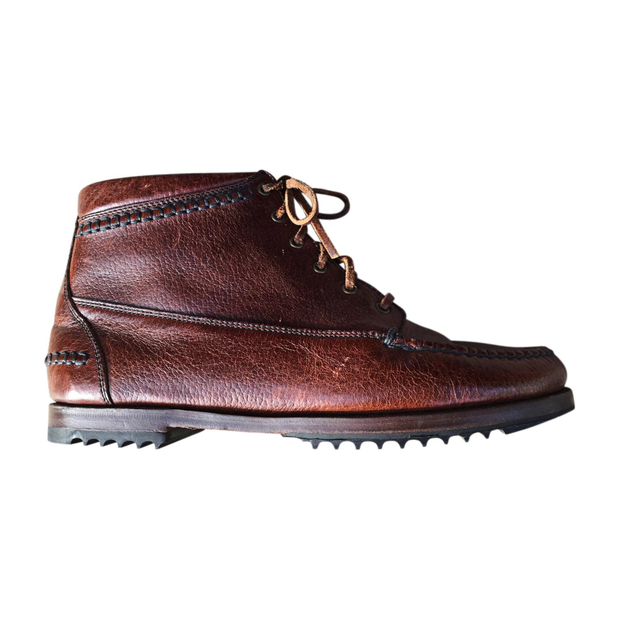 Bottines & low boots à talons RALPH LAUREN Marron