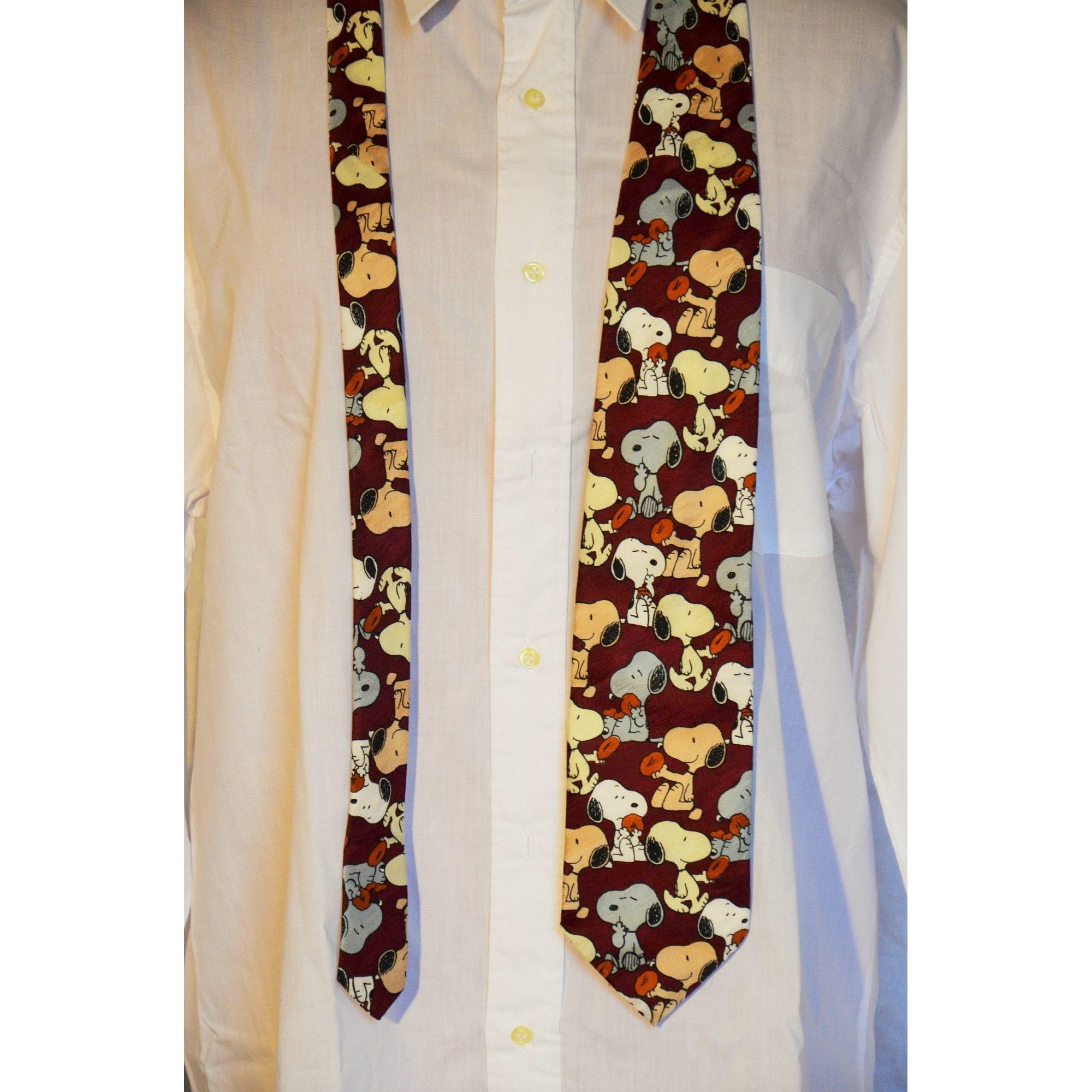 Cravate SNOOPY Rouge, bordeaux