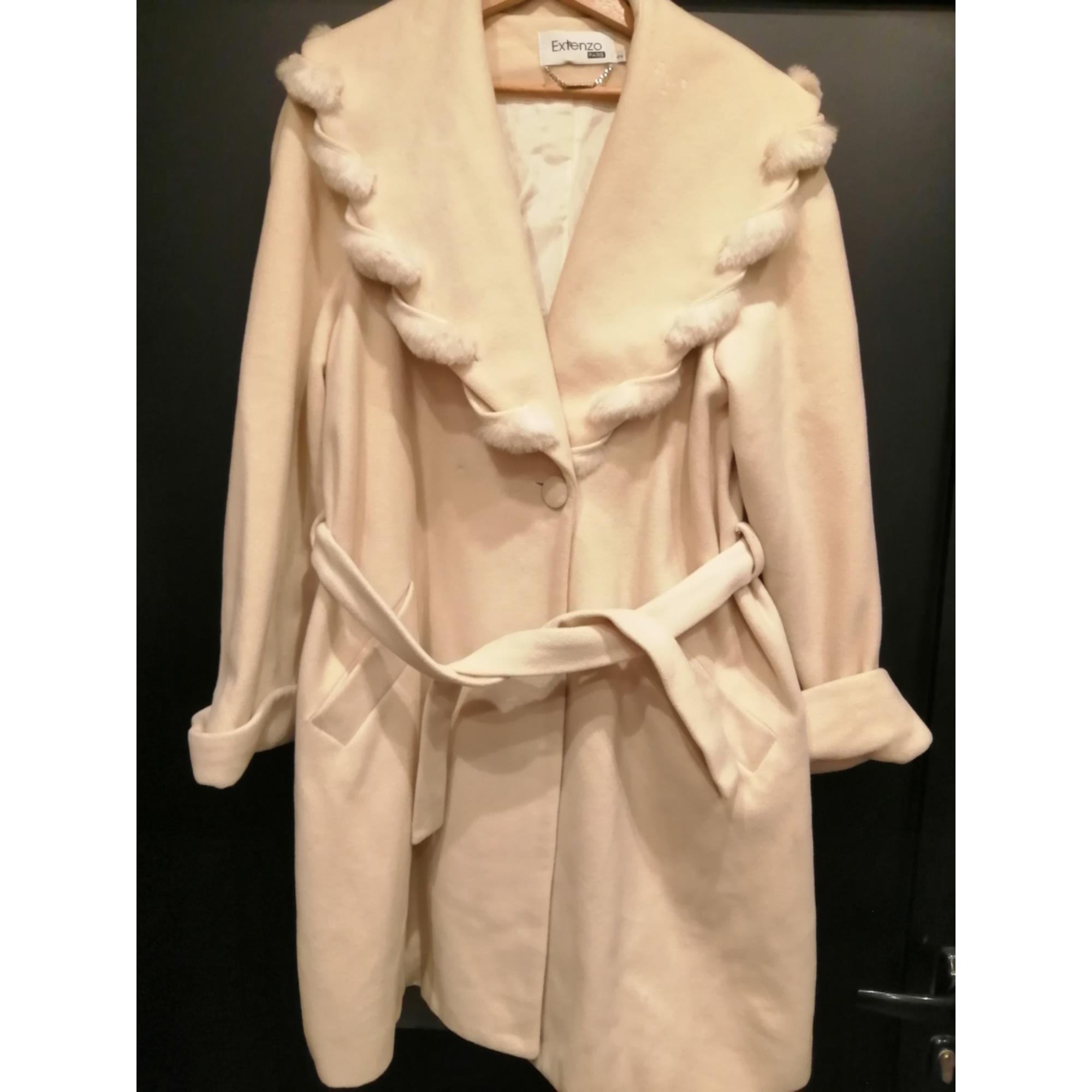 Manteau EXTENZO PARIS Blanc, blanc cassé, écru