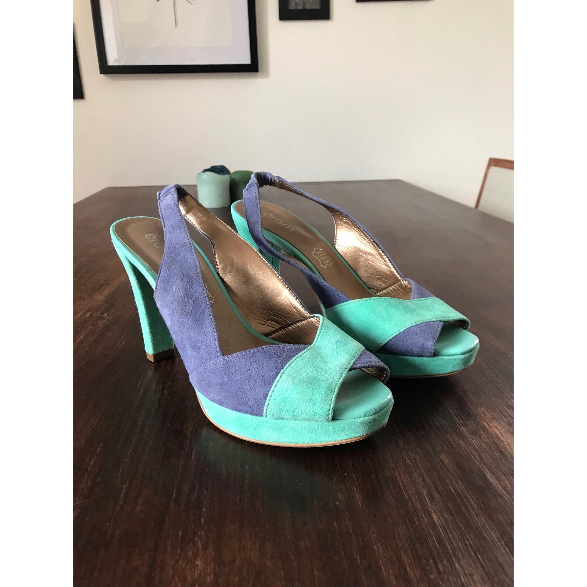 Sandales à talons ERAM Bleu, bleu marine, bleu turquoise