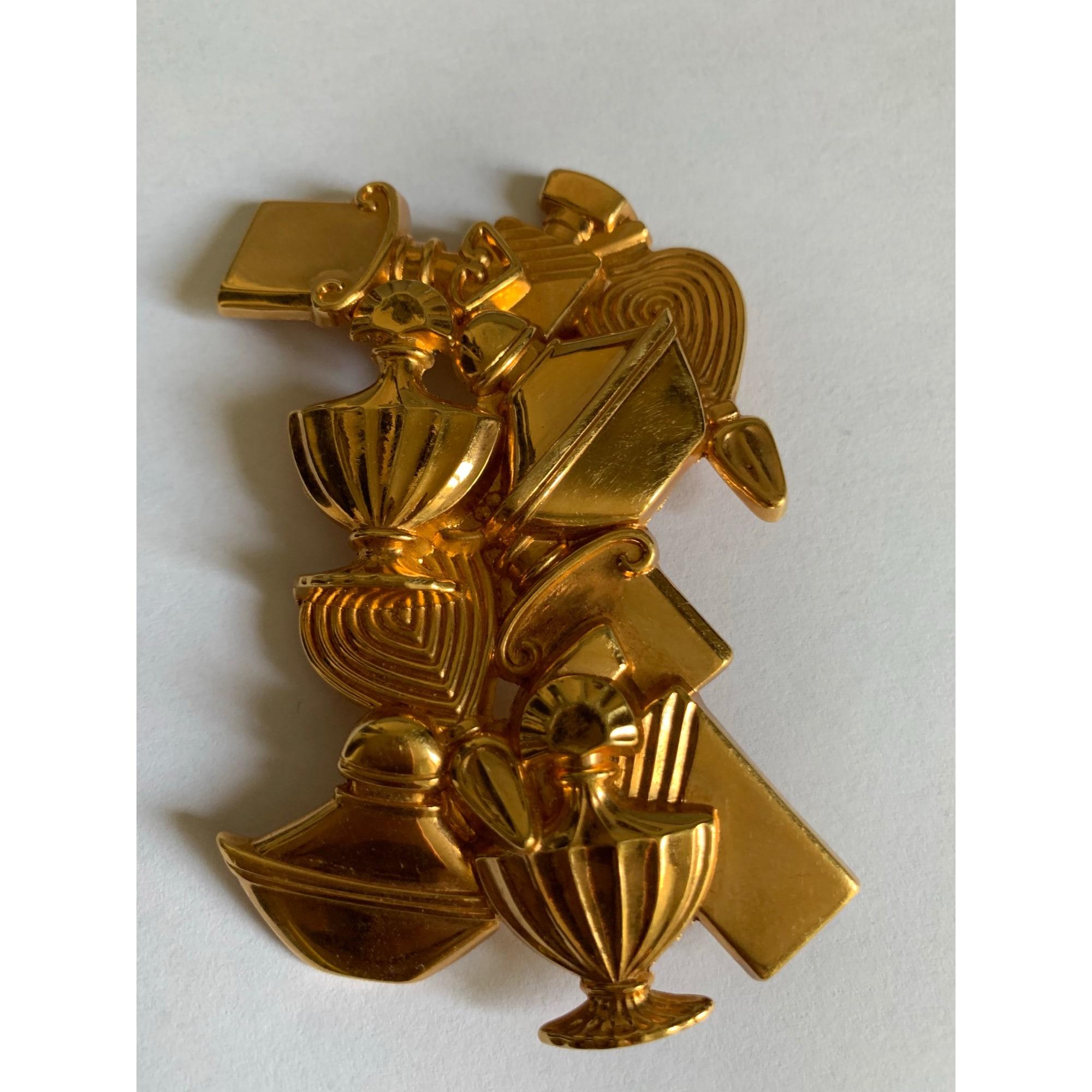 Broche GUERLAIN métal doré