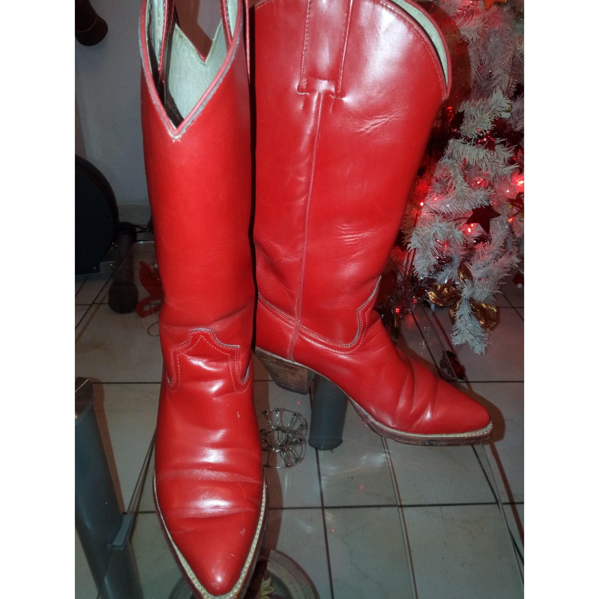 Santiags, bottes cowboy GO WEST Rouge, bordeaux