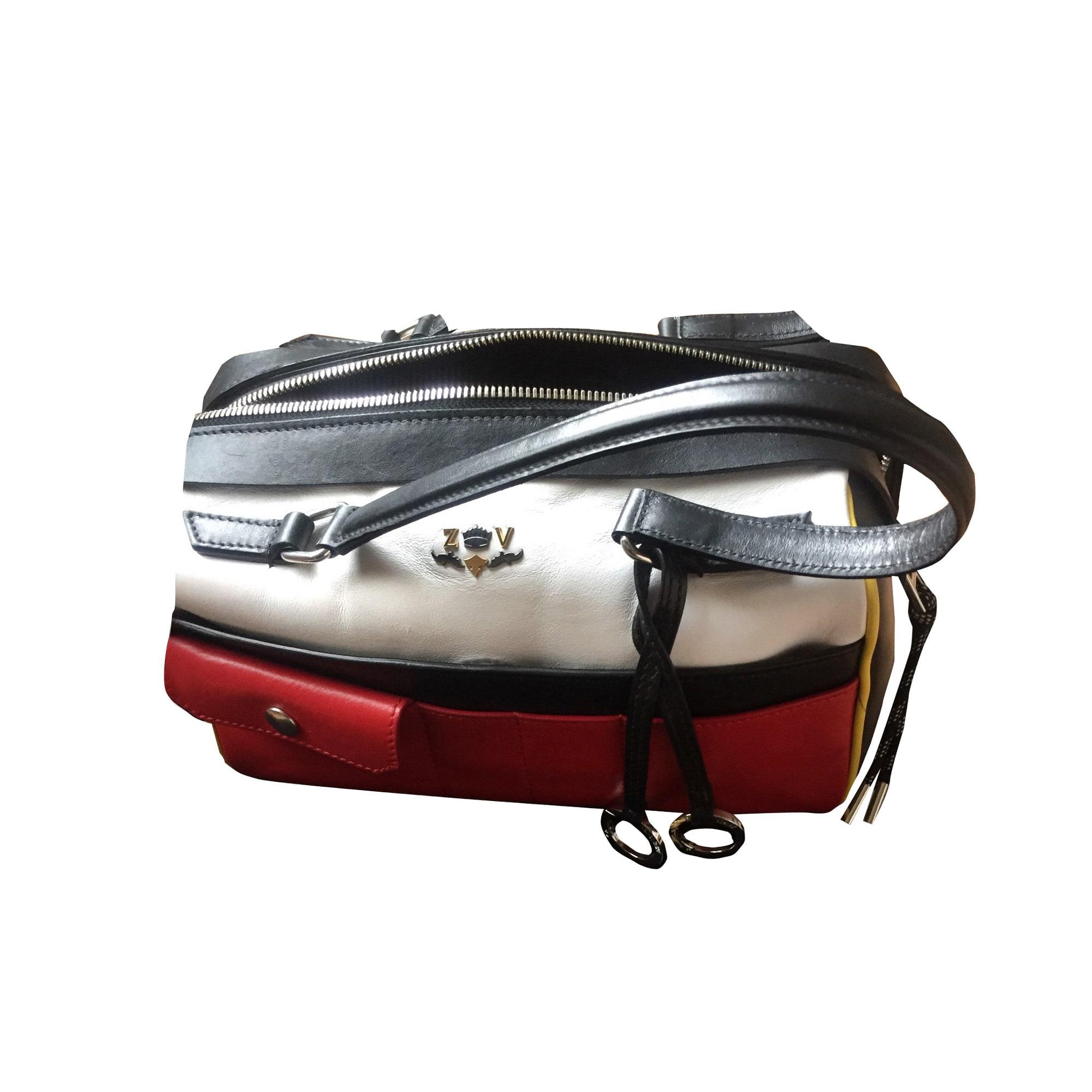 sac a main noir rouge blanc