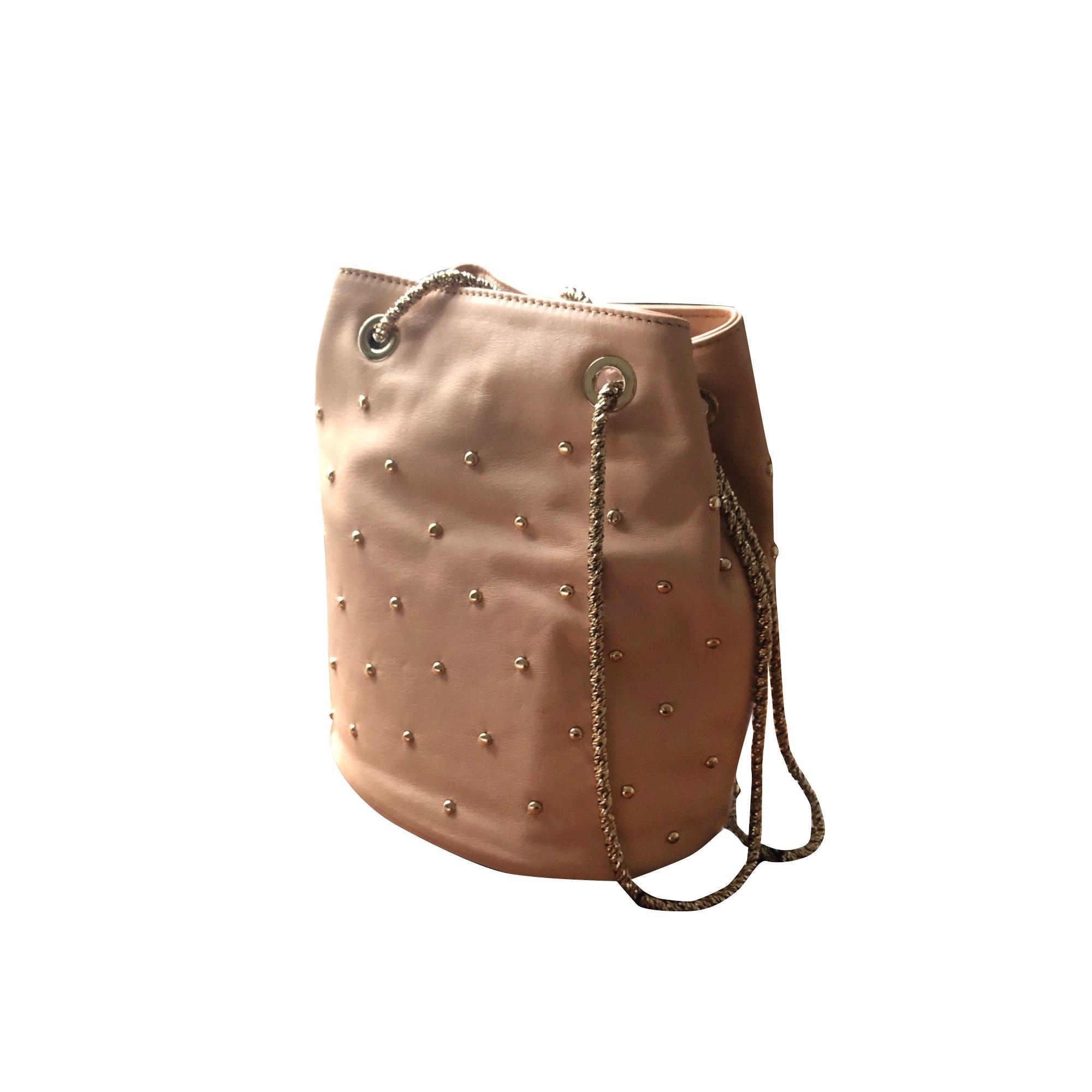 Leather Shoulder Bag SÉZANE Nude doré