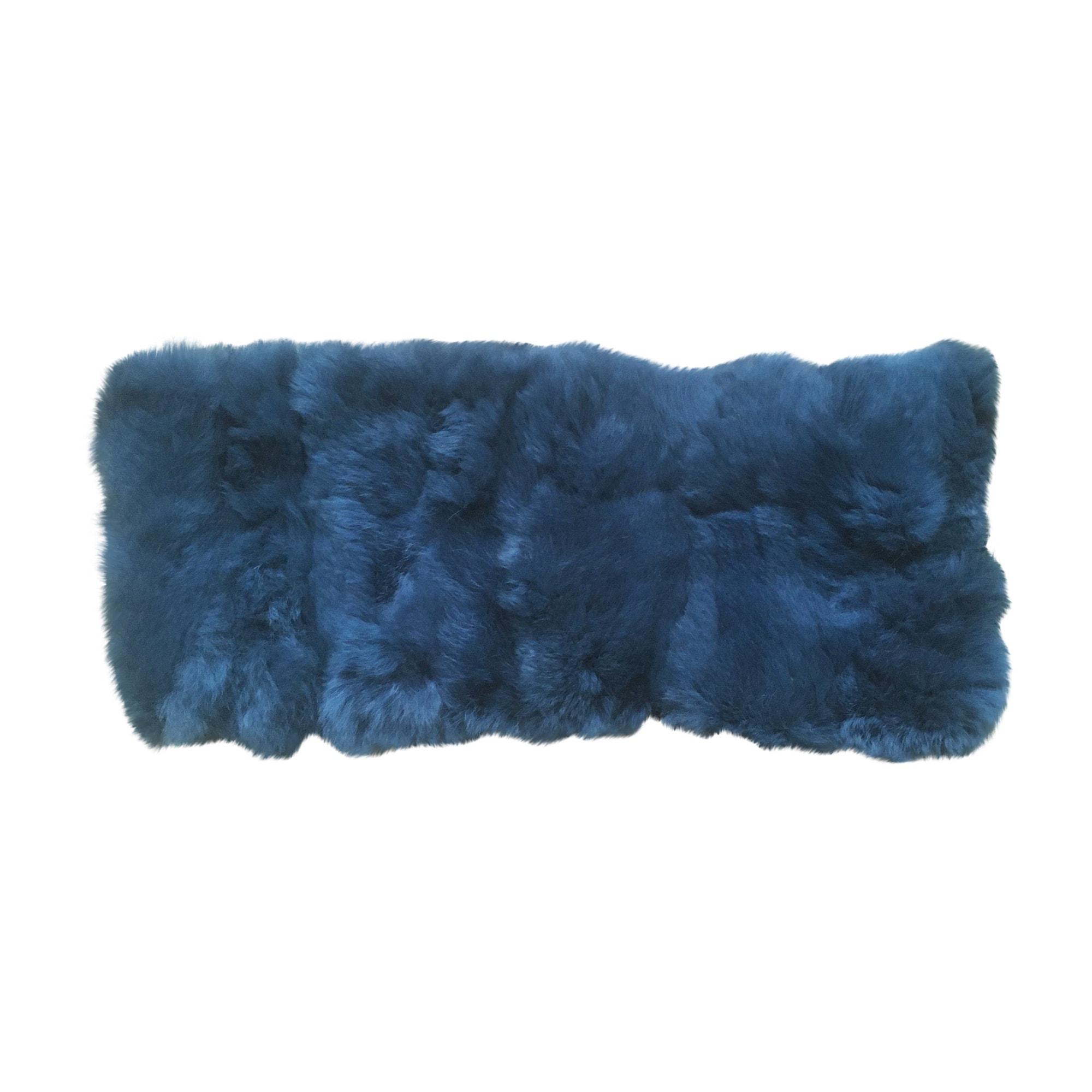 Echarpe YVES SALOMON Bleu, bleu marine, bleu turquoise