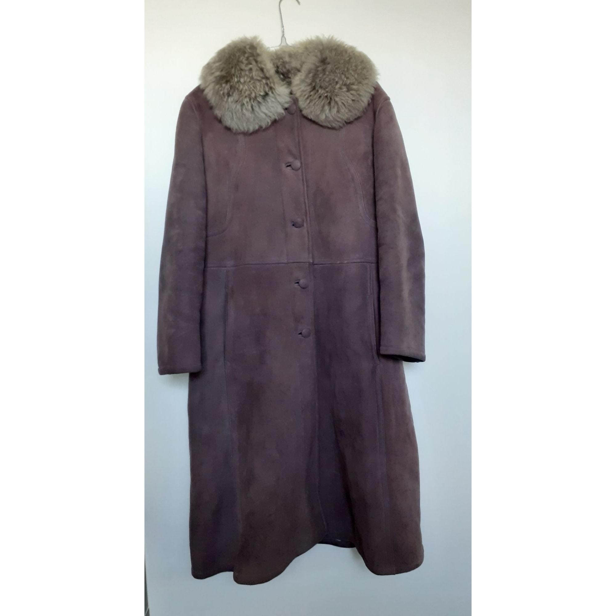 Manteau en fourrure VINTAGE Marron