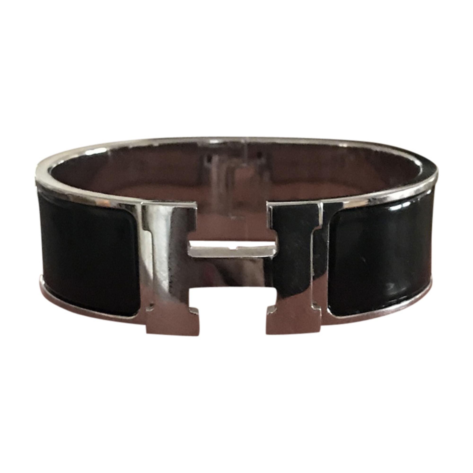 Armband HERMÈS Clic H Schwarz