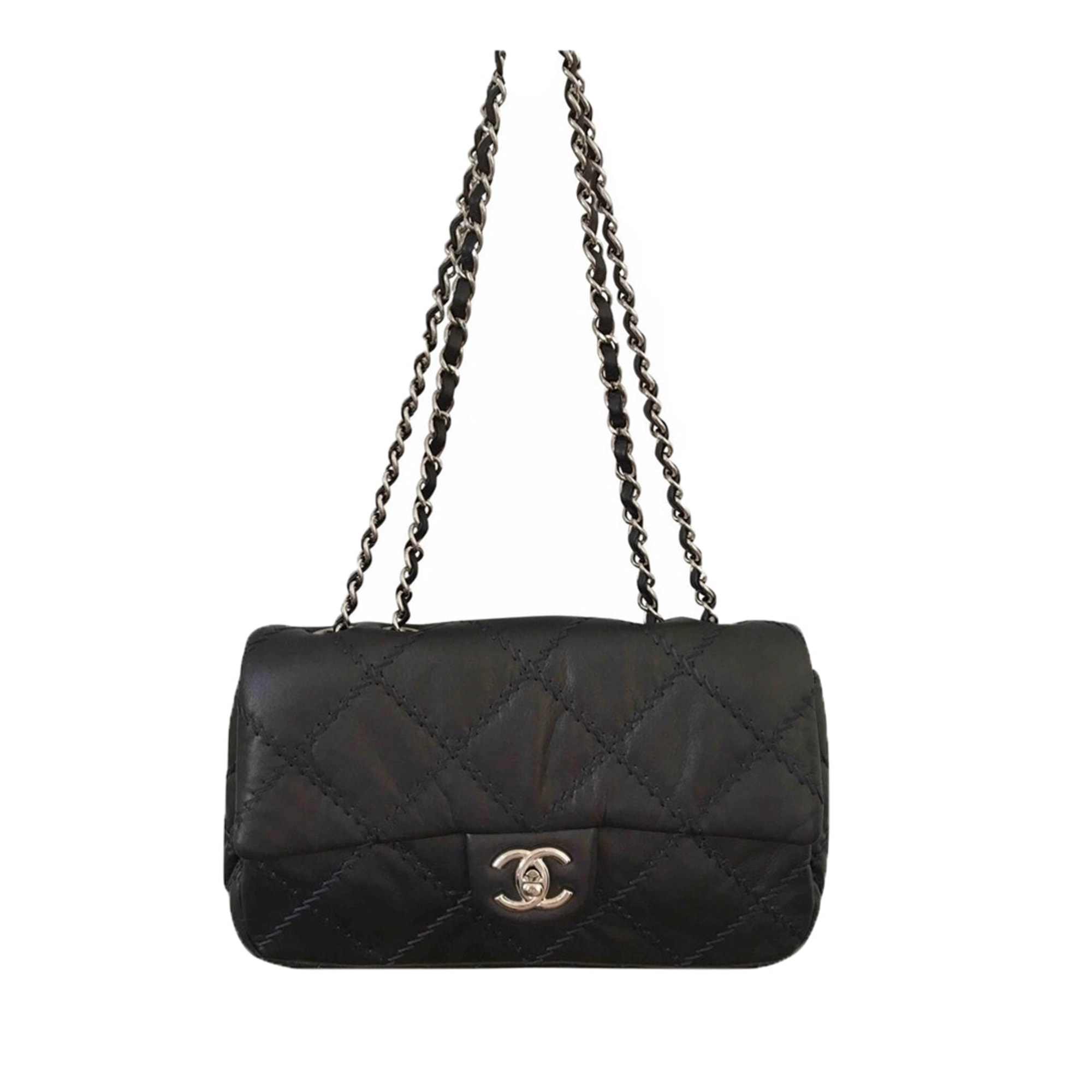 Leather Clutch CHANEL Timeless - Classique Gray, charcoal