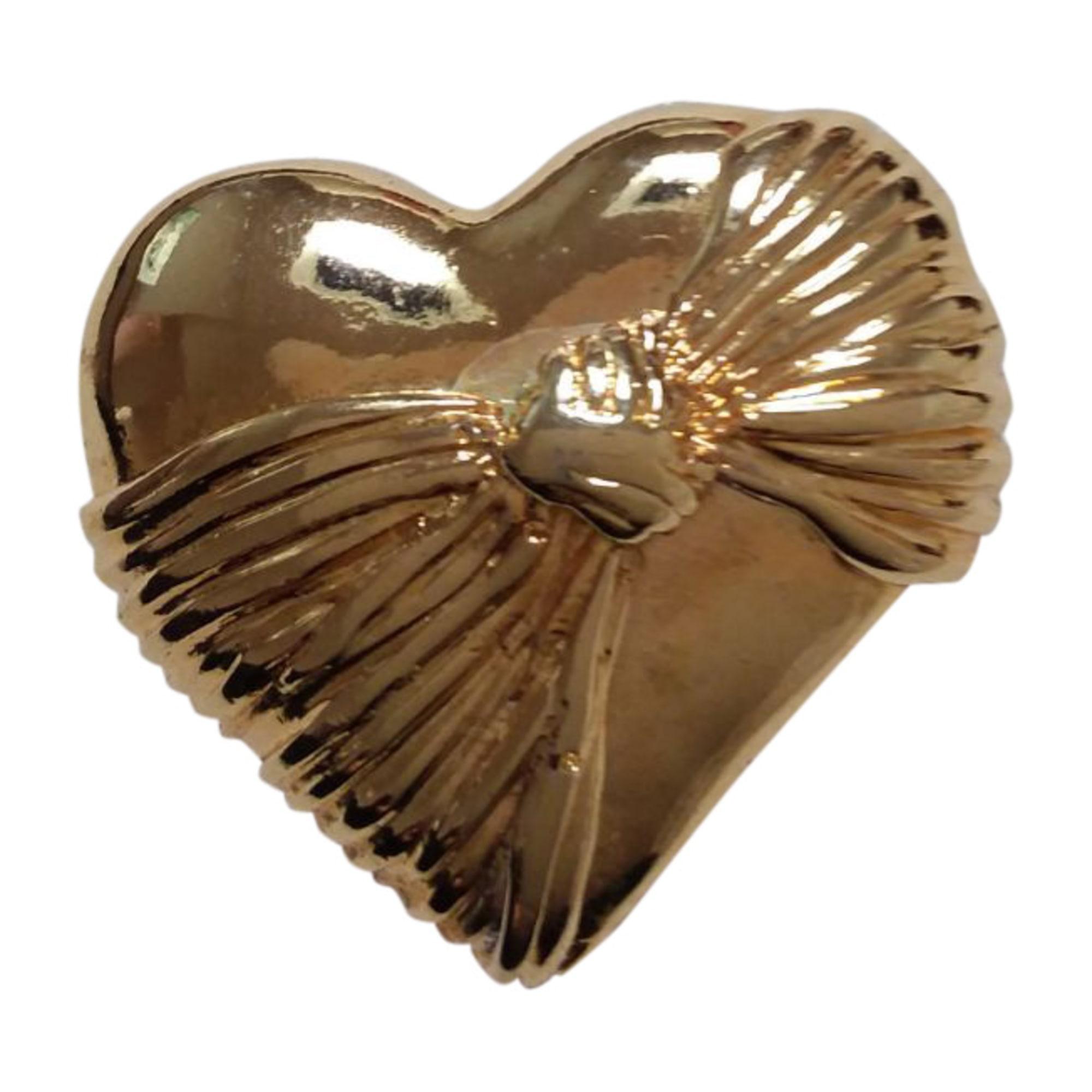 Broche AZZARO métal dore doré