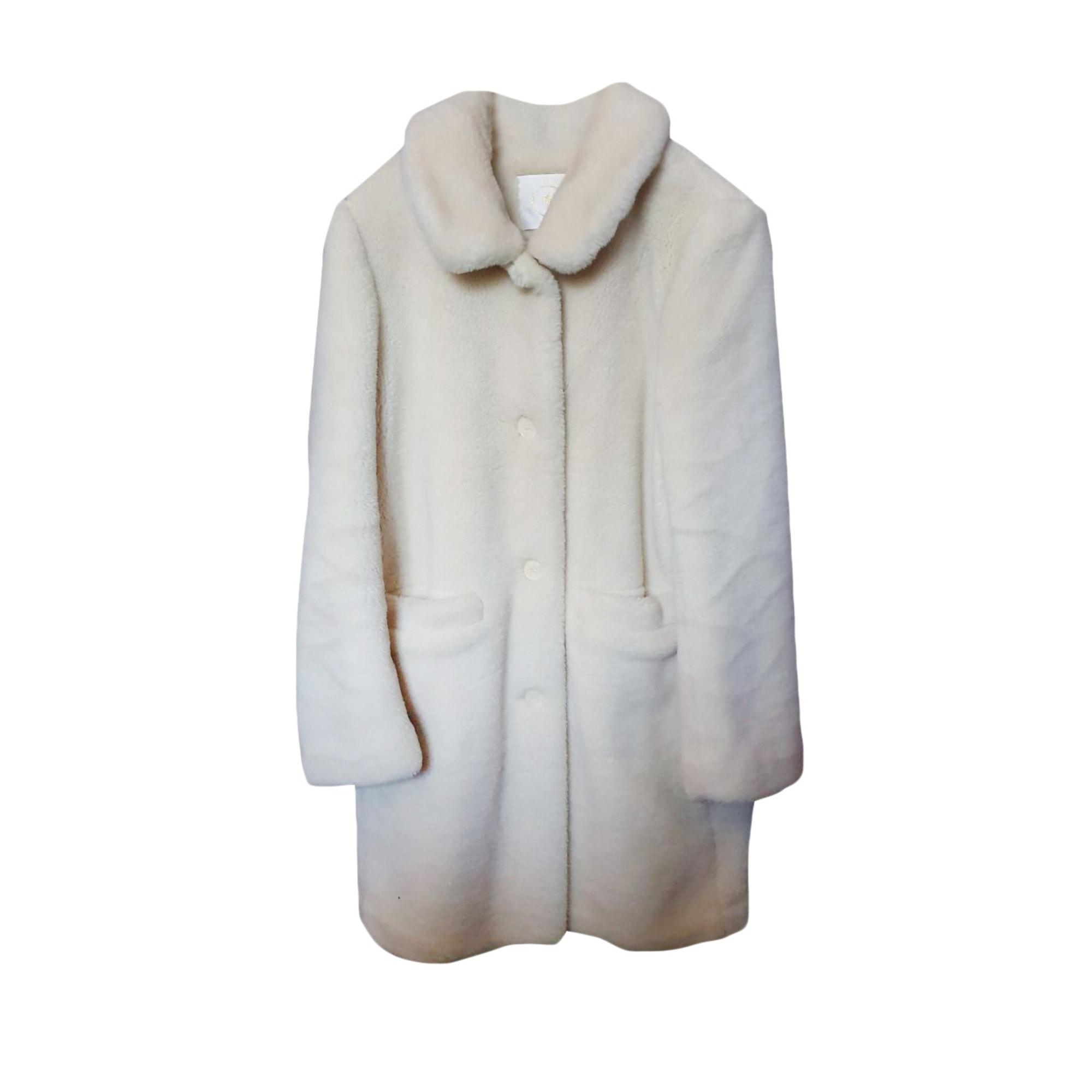Manteau en fourrure DES PETITS HAUTS Blanc, blanc cassé, écru