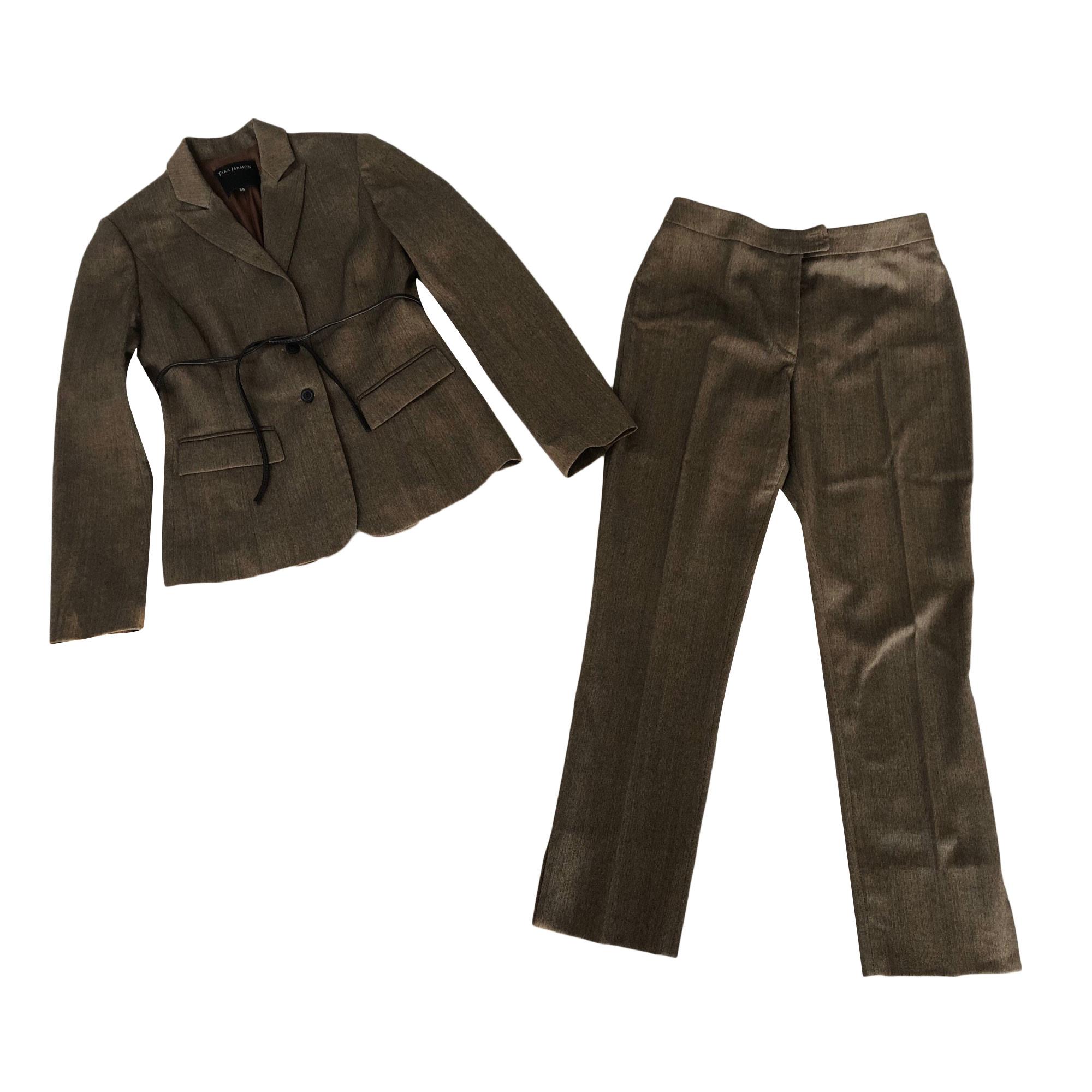 Tailleur pantalon TARA JARMON Marron