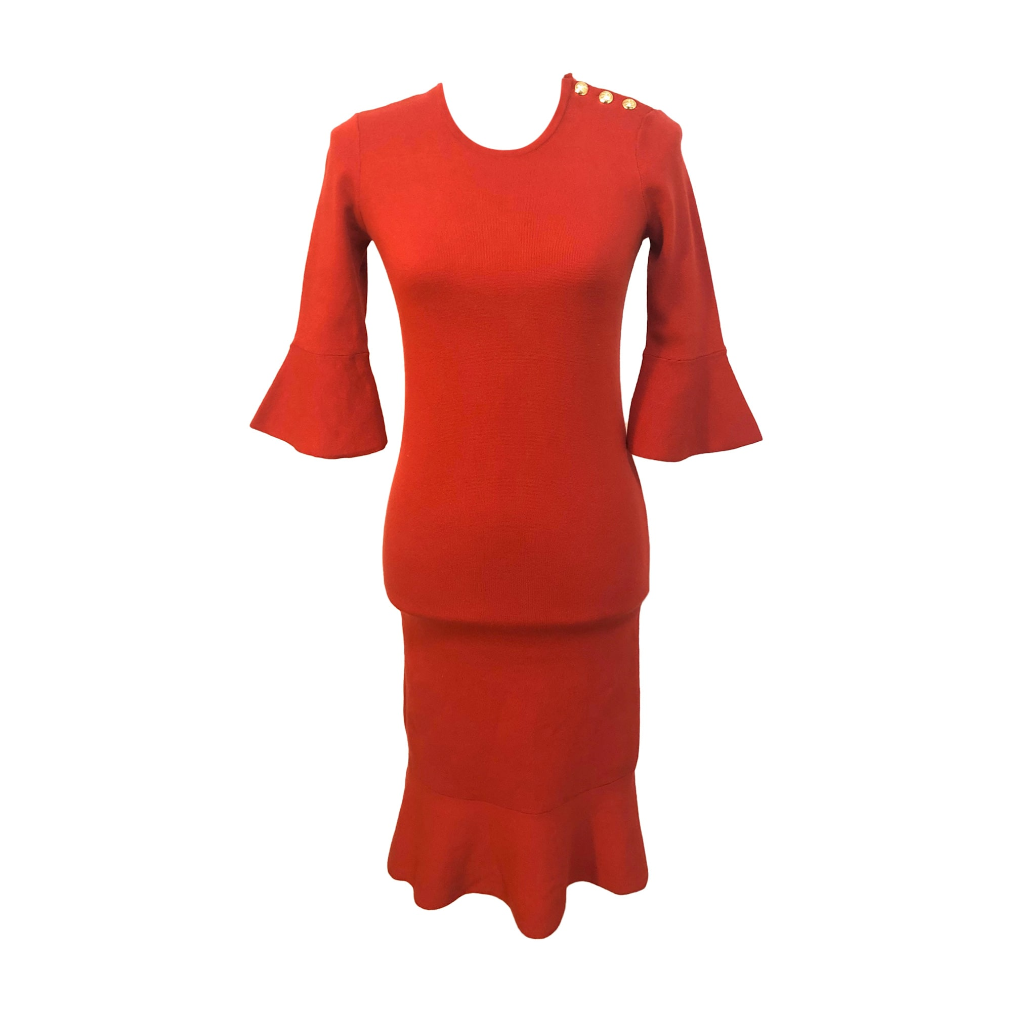 Robe mi-longue RALPH LAUREN Rouge, bordeaux