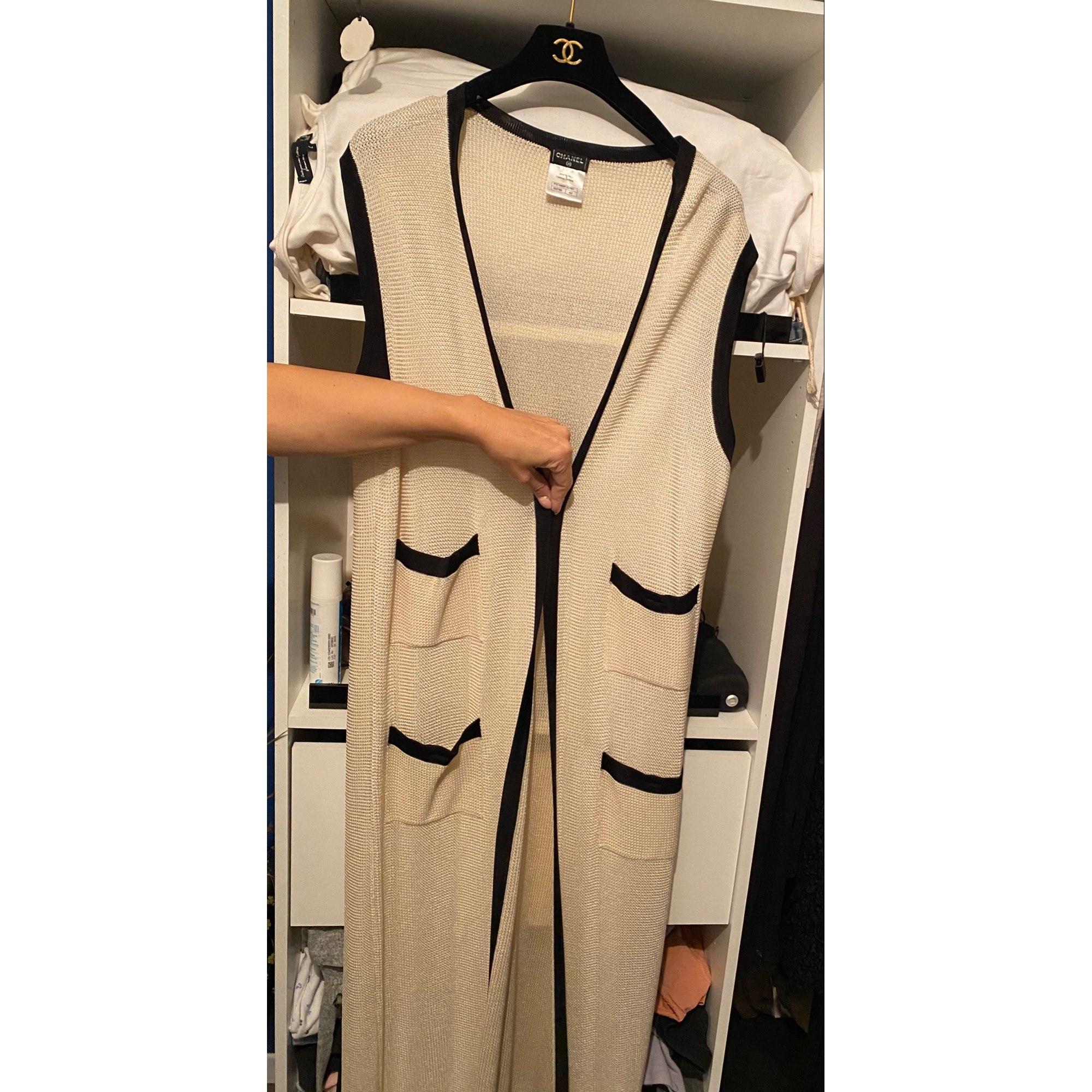 Manteau CHANEL Blanc, blanc cassé, écru