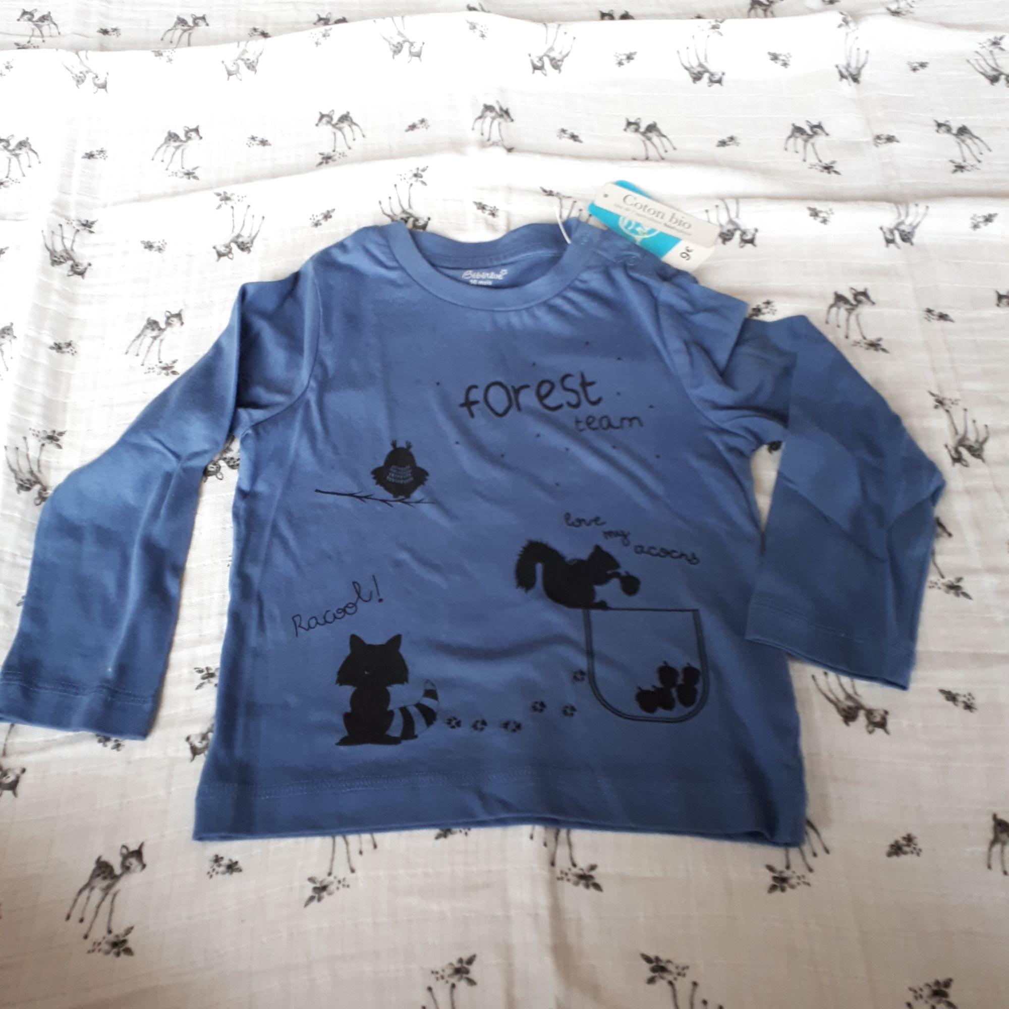 Tee-shirt BÉBÉ RÊVE Bleu, bleu marine, bleu turquoise